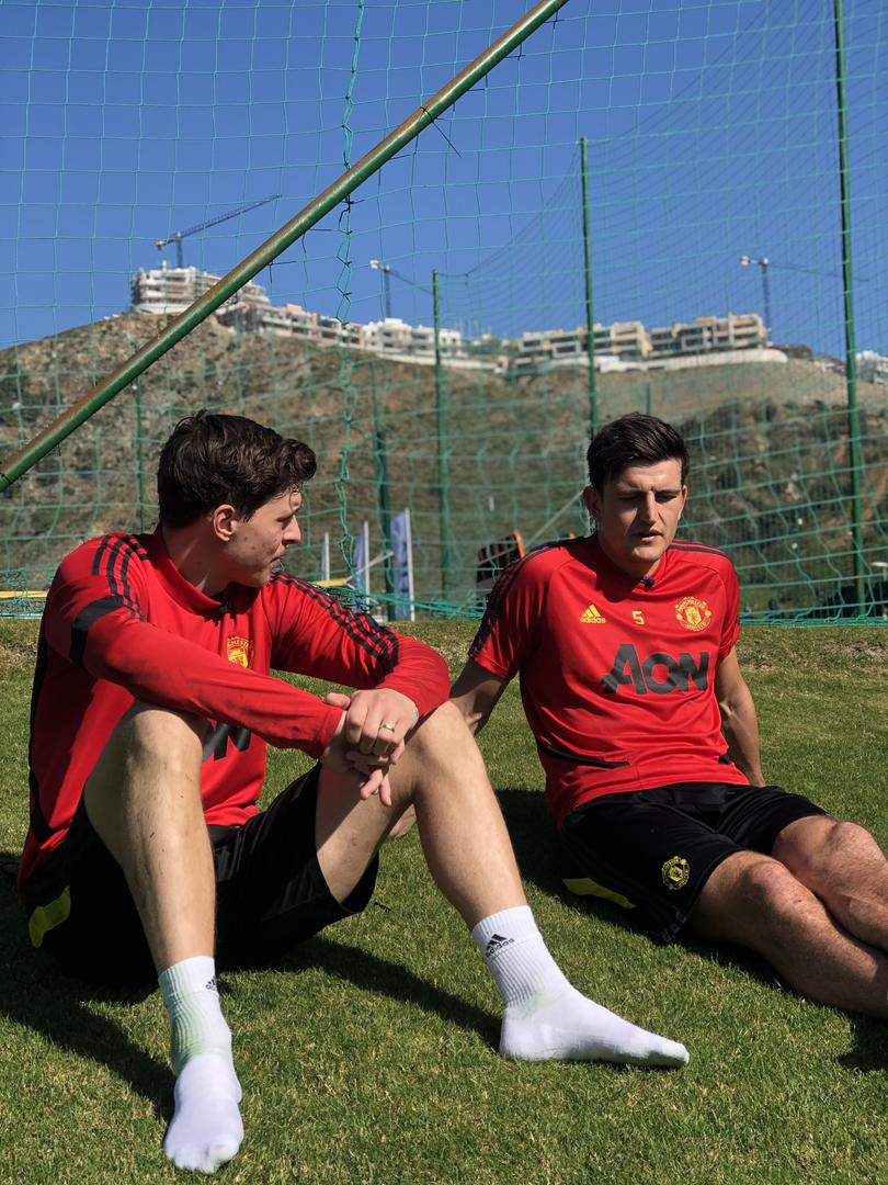 Victor Lindelof and Harry Maguire.,