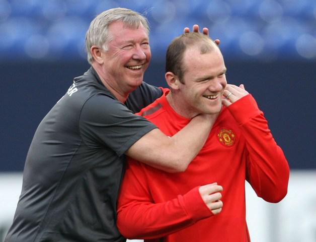 Sir Alex Ferguson and Wayne Rooney.