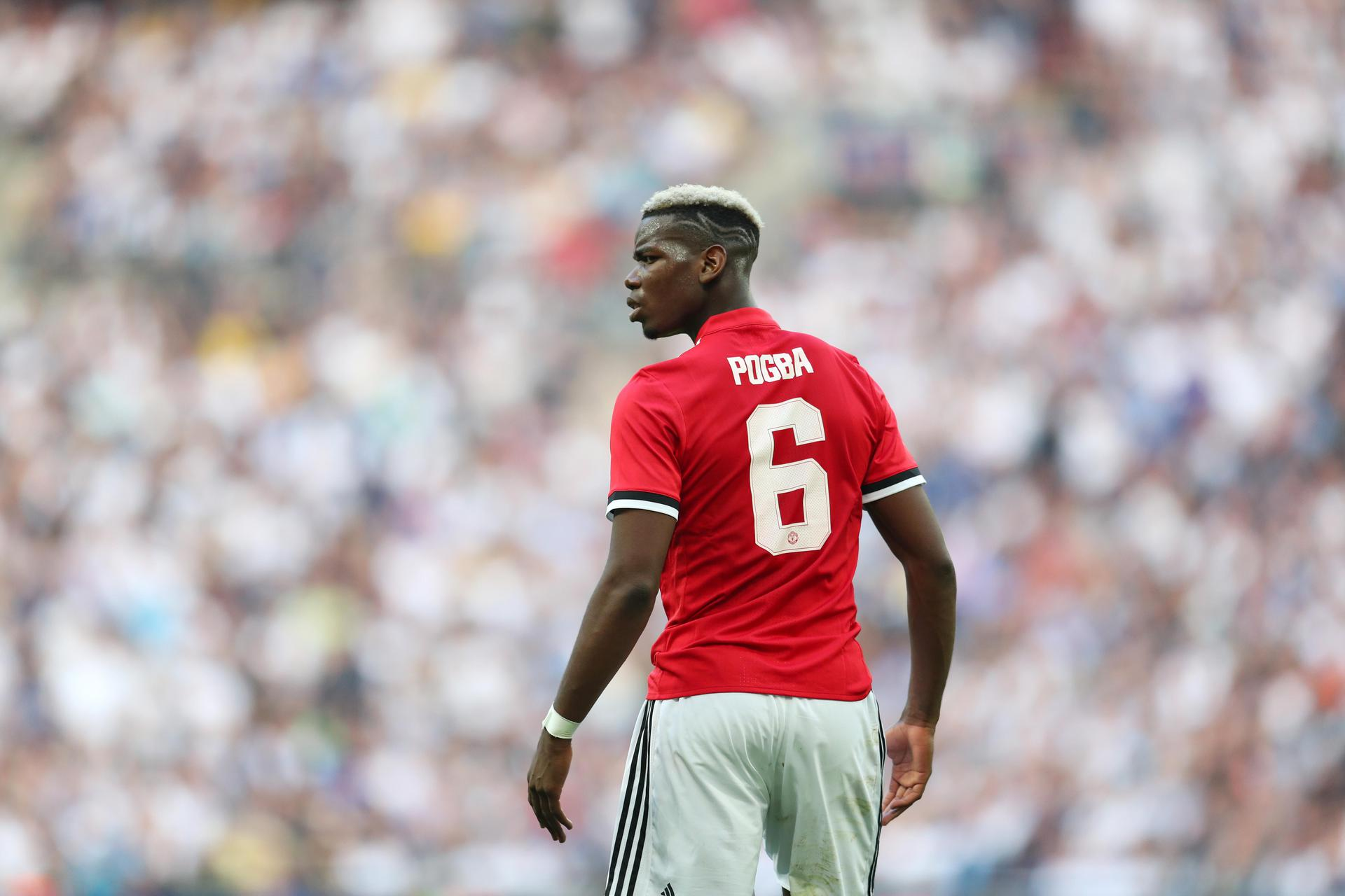 Paul Pogba en acción
