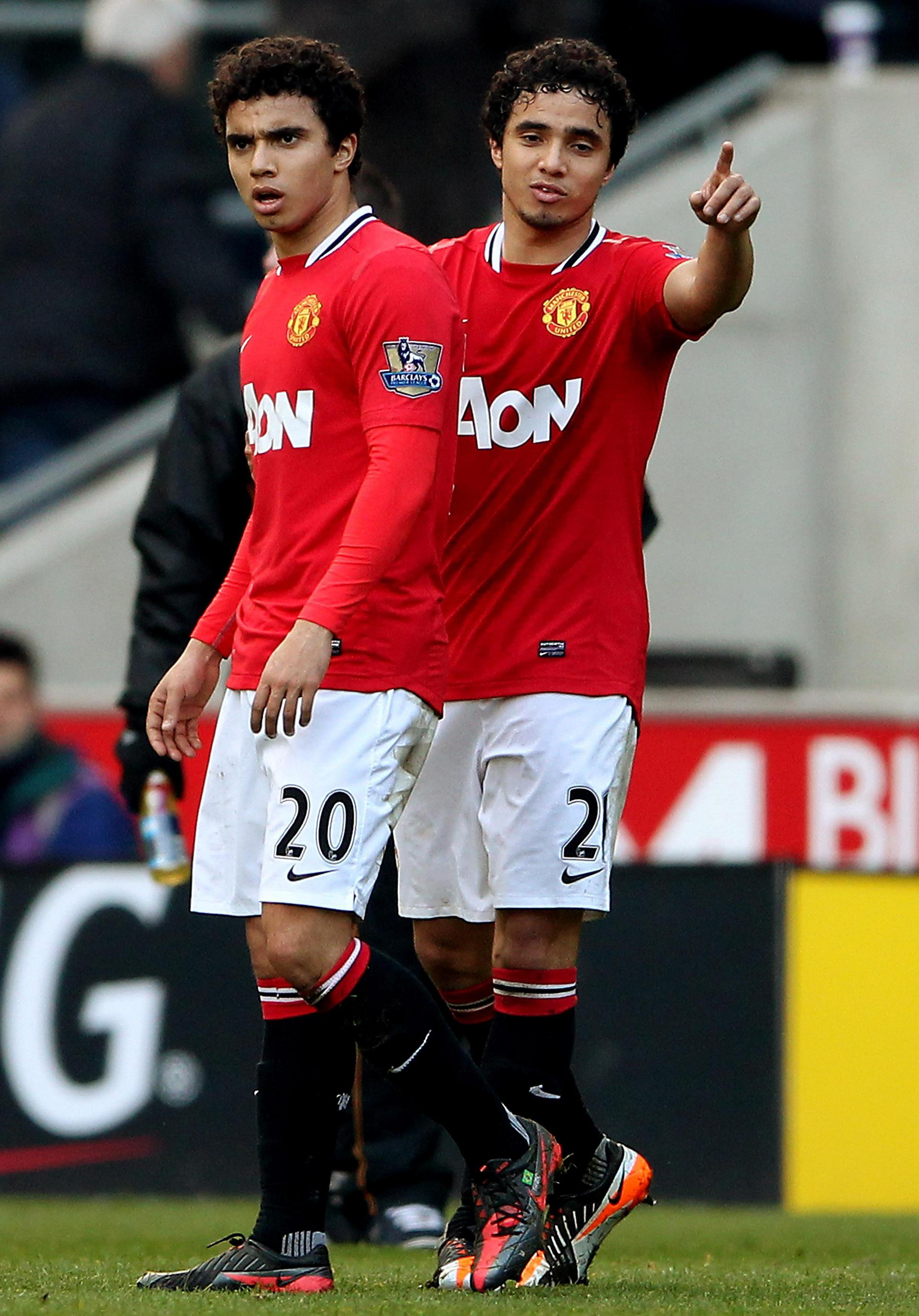 Rafael and Fabio da Silva for Manchester United.