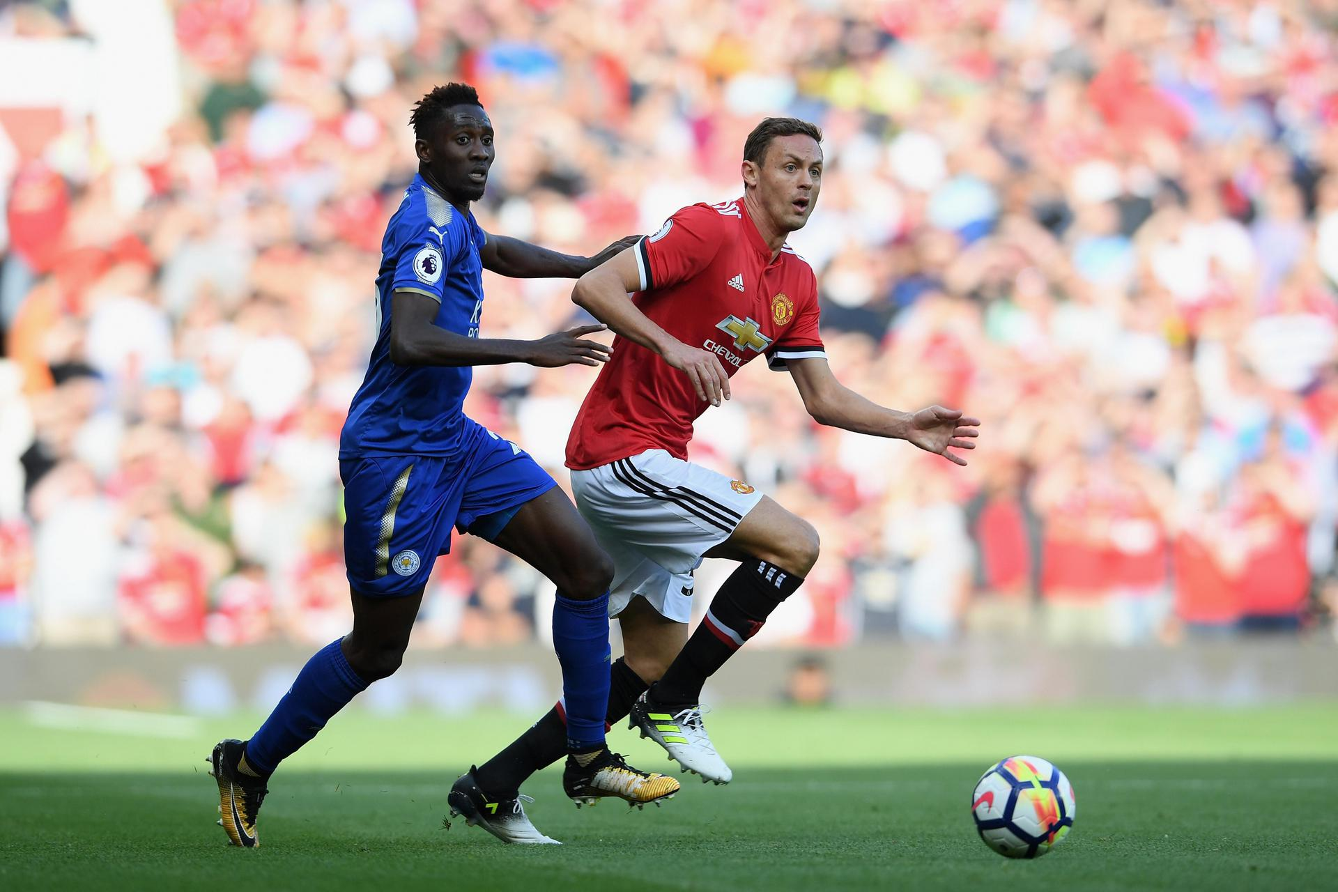 Nemanja Matic in action against Leicester City.