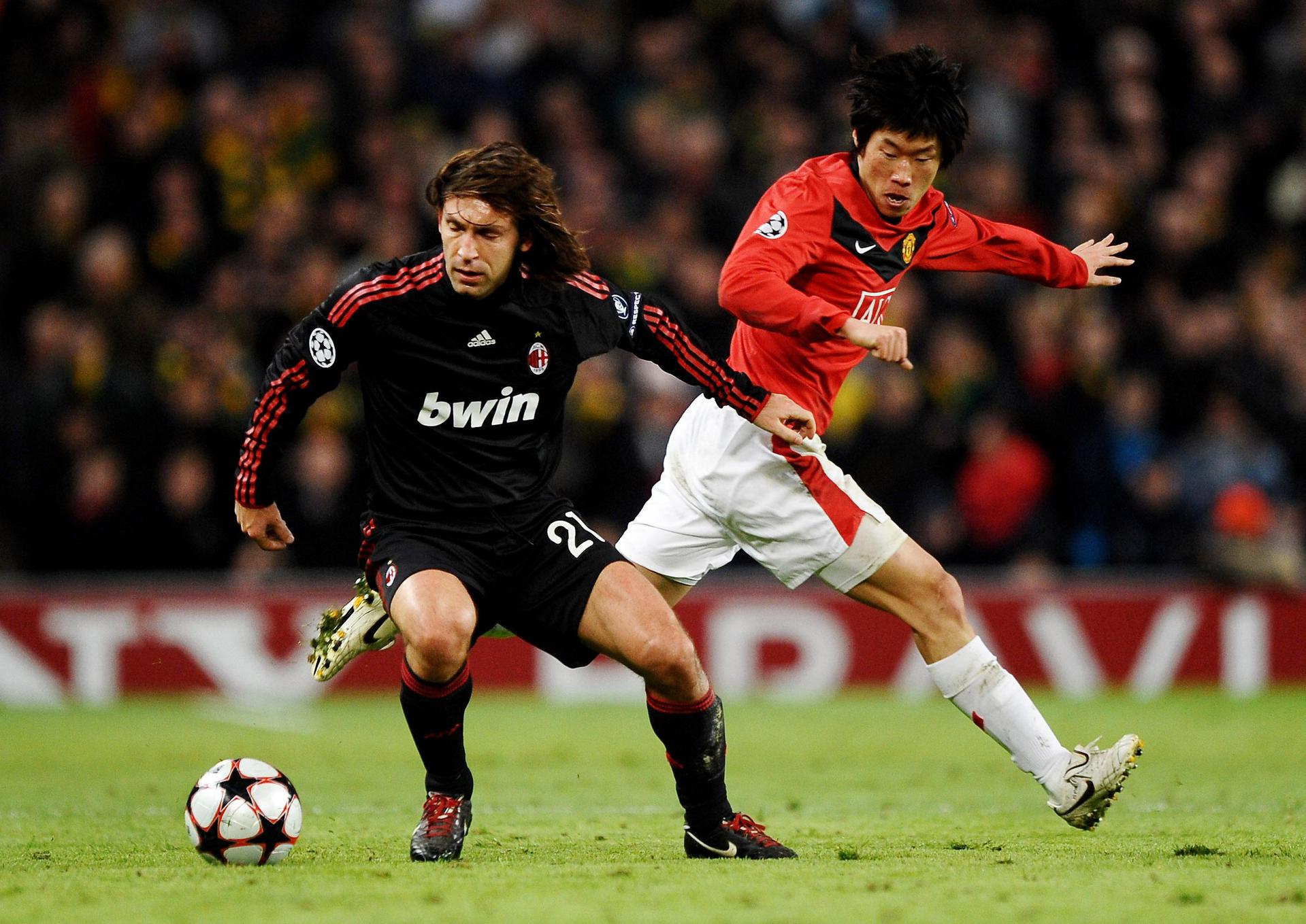Andrea Pirlo and  Ji-sung Park.