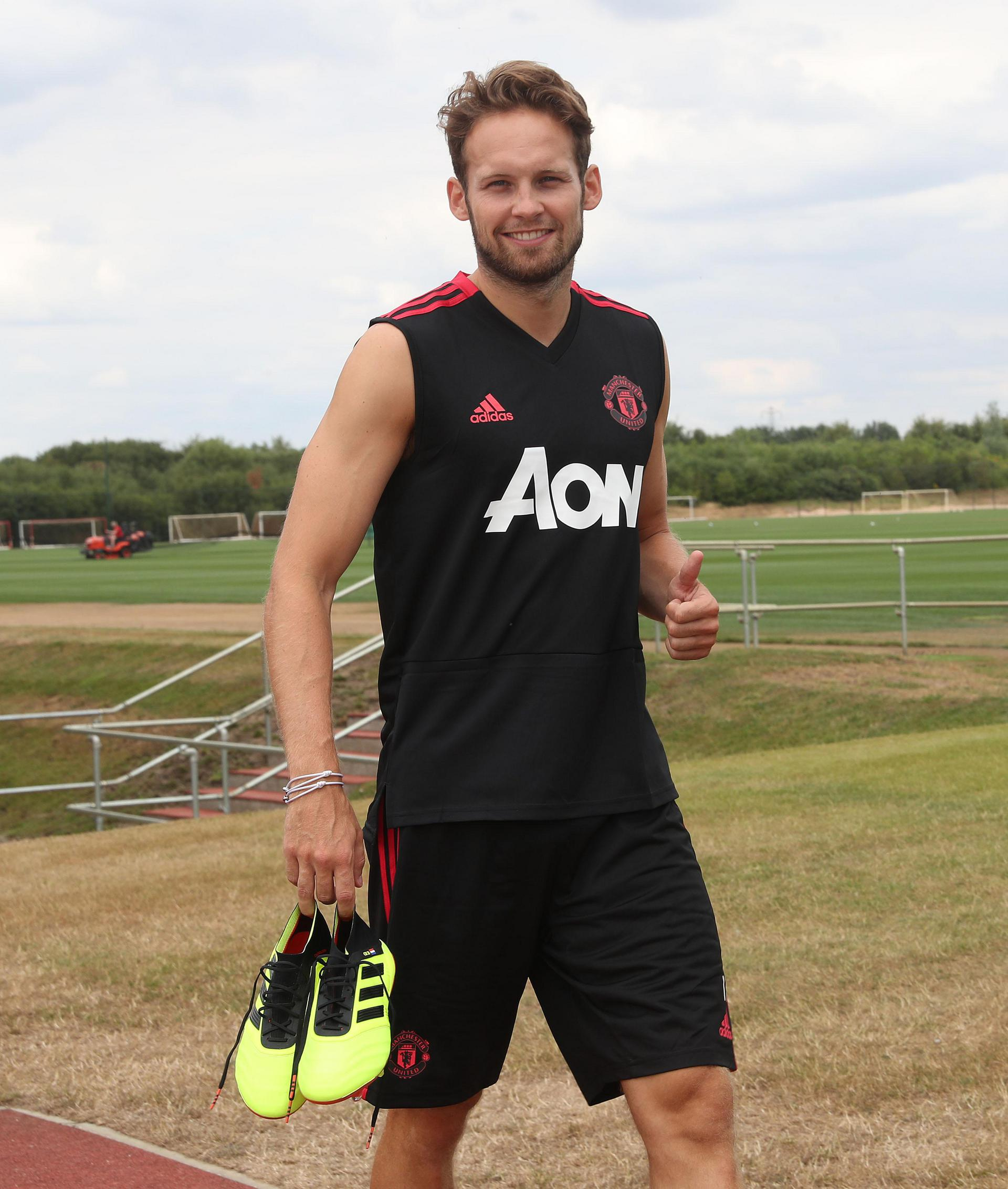 Daley Blind at the Aon Training Complex.