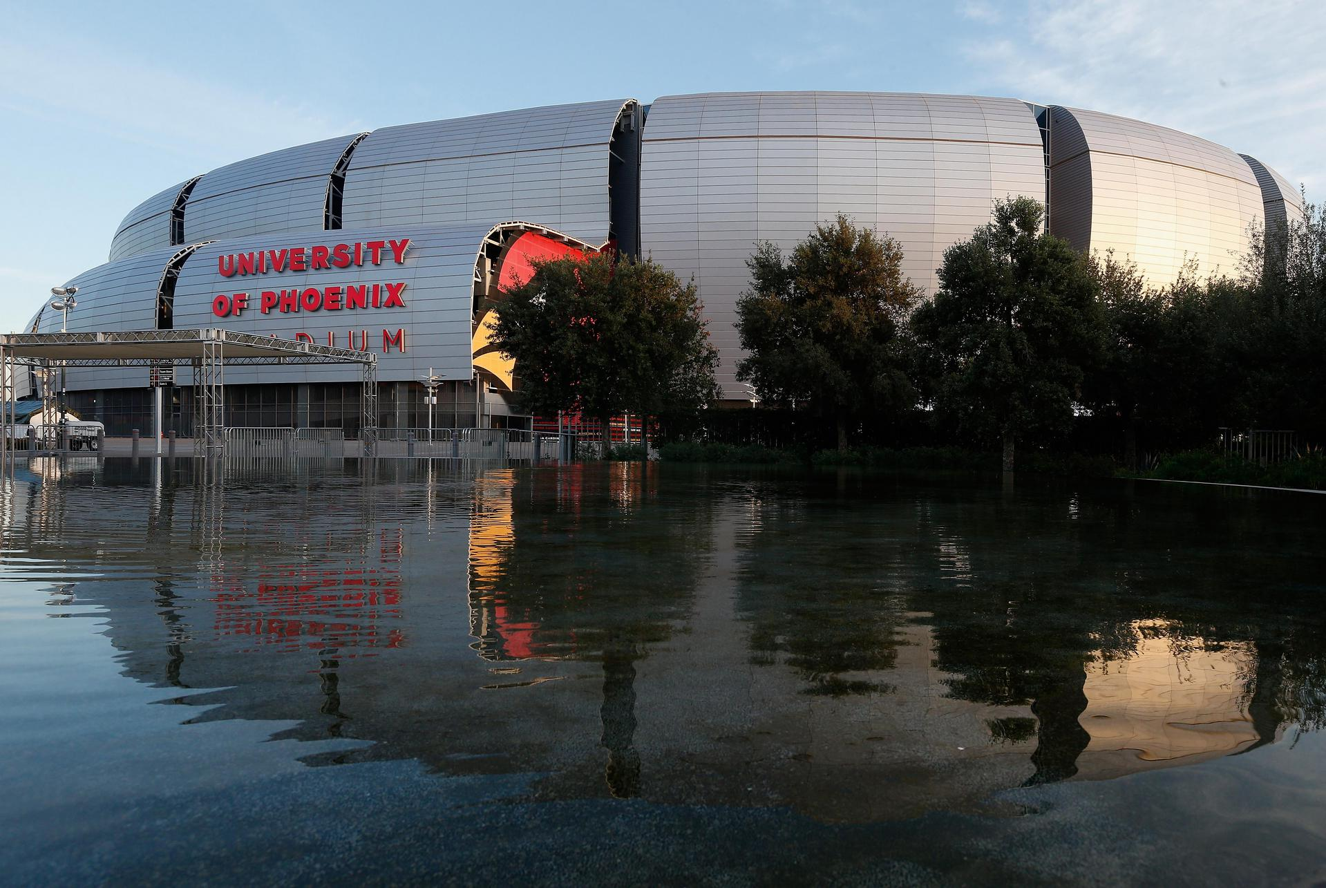 A general view of the University of Phoenix Stadium in Glendale, Arizona