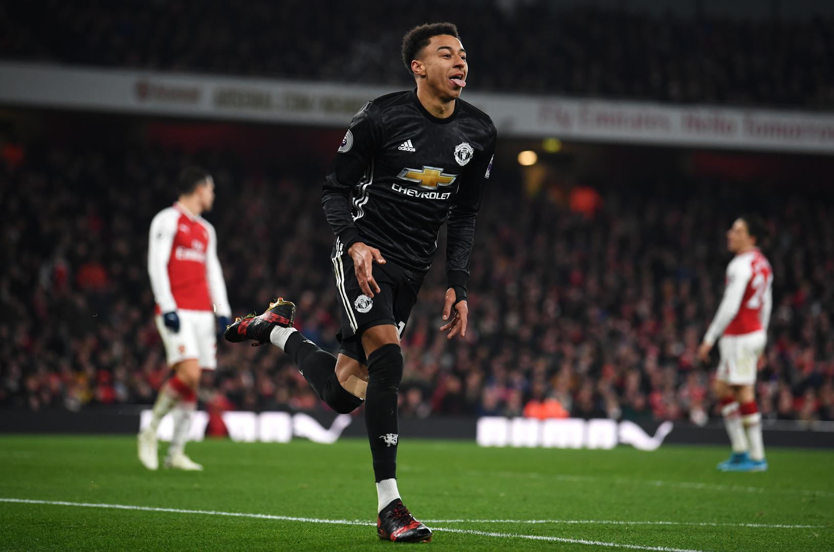 Jesse Lingard scores against Arsenal