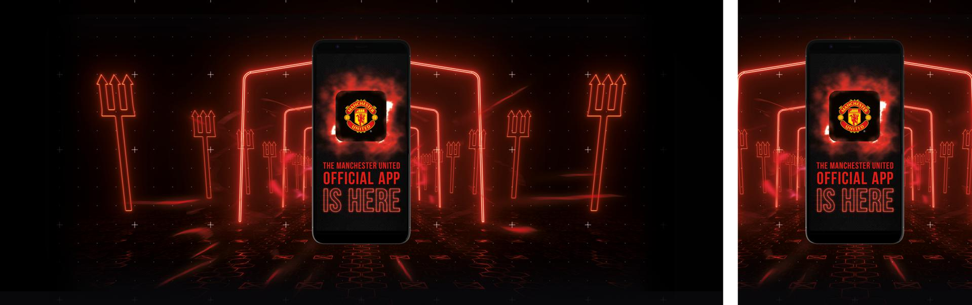 A graphic to promote the new United app.