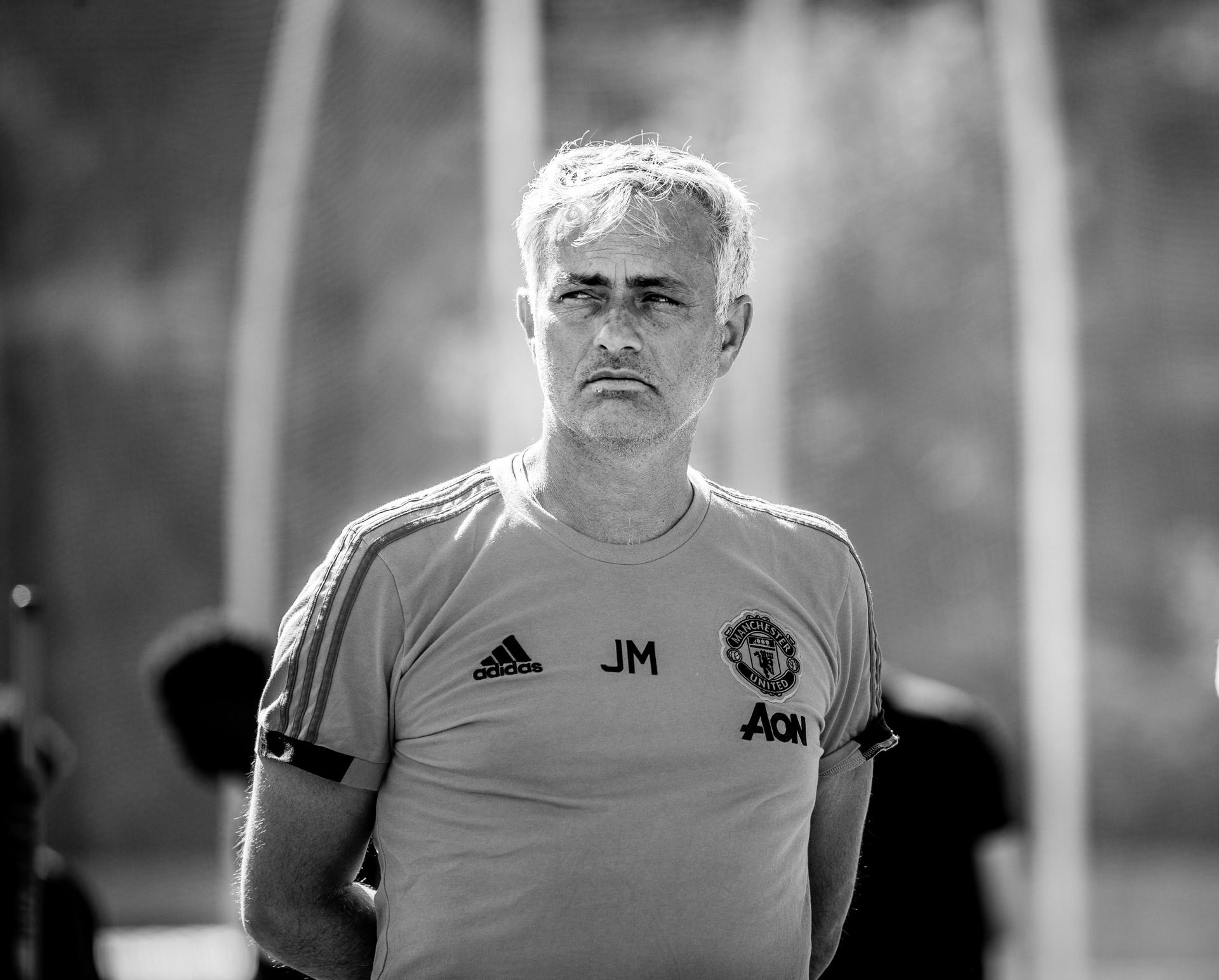 Jose Mourinho at training on Tour 2018.