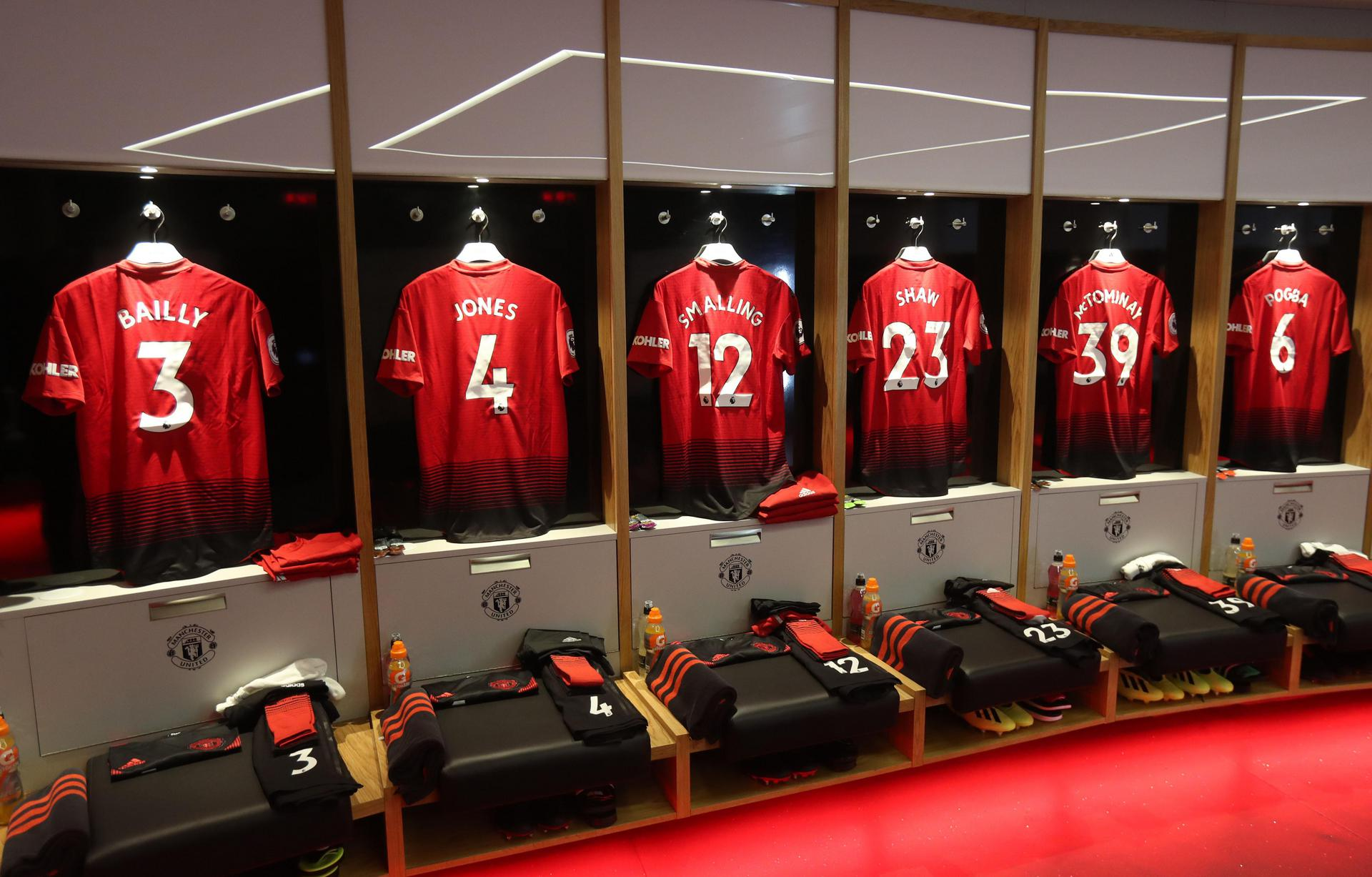 United home dressing room