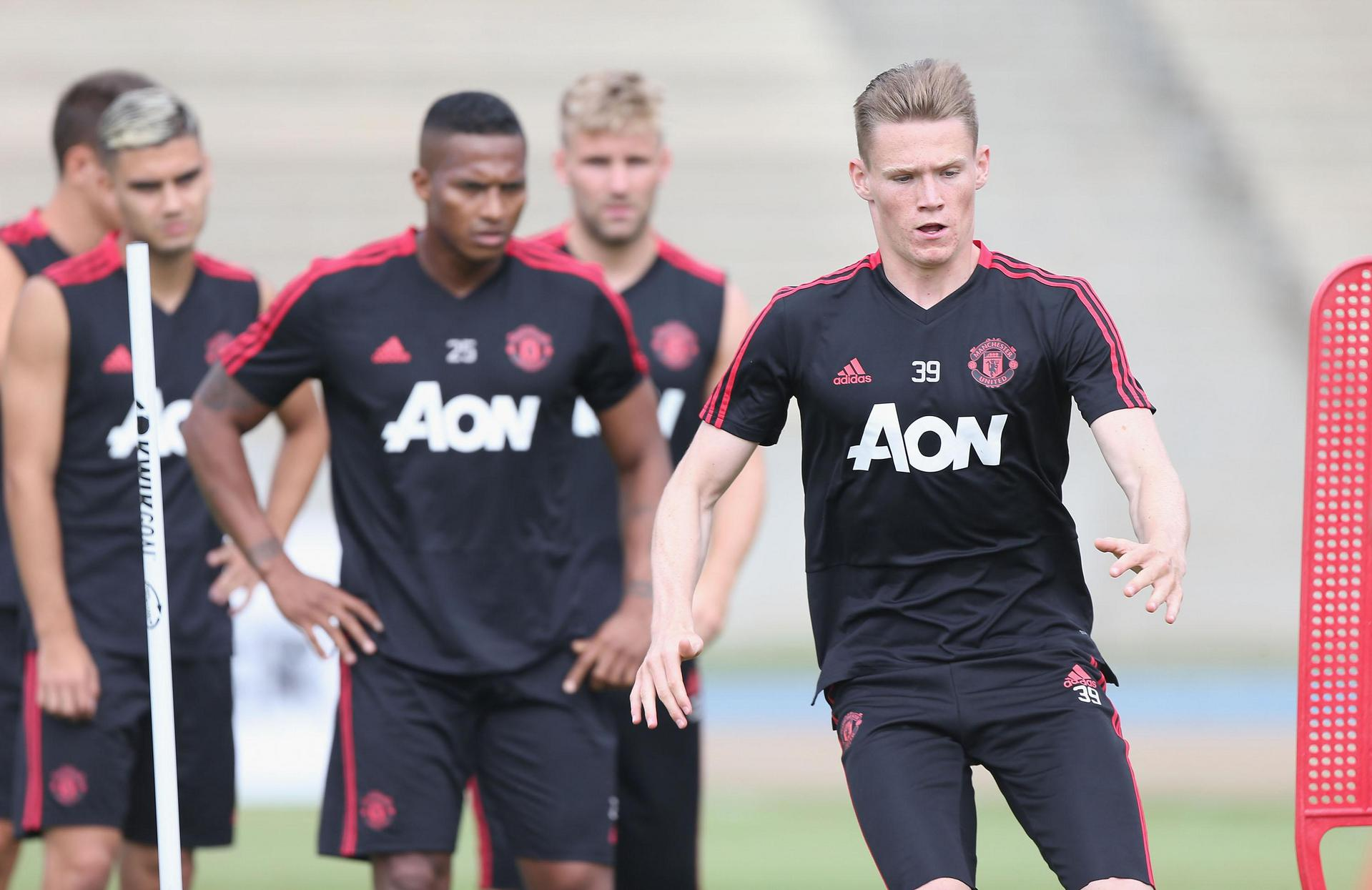 Scott McTominay during a training session for United.