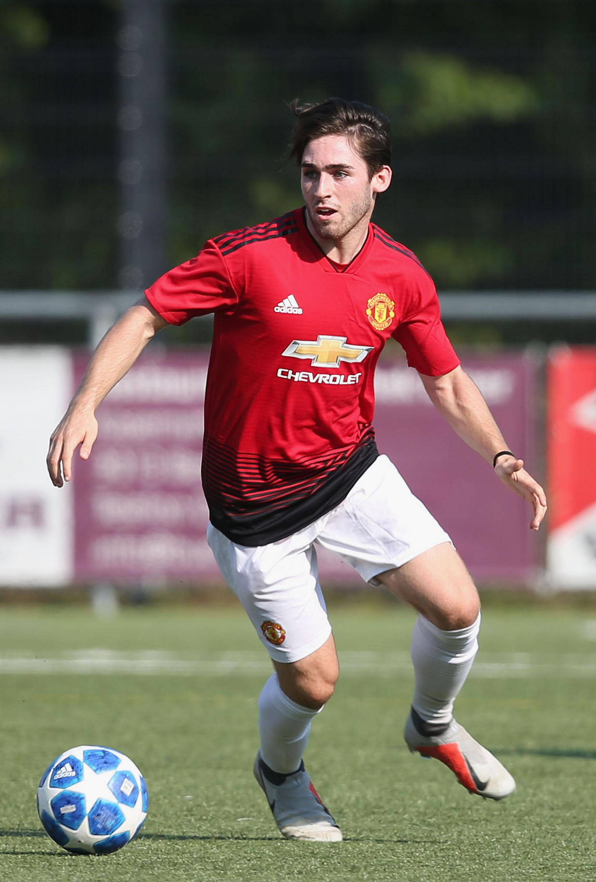 Aidan Balow on the ball in the UEFA Youth League.