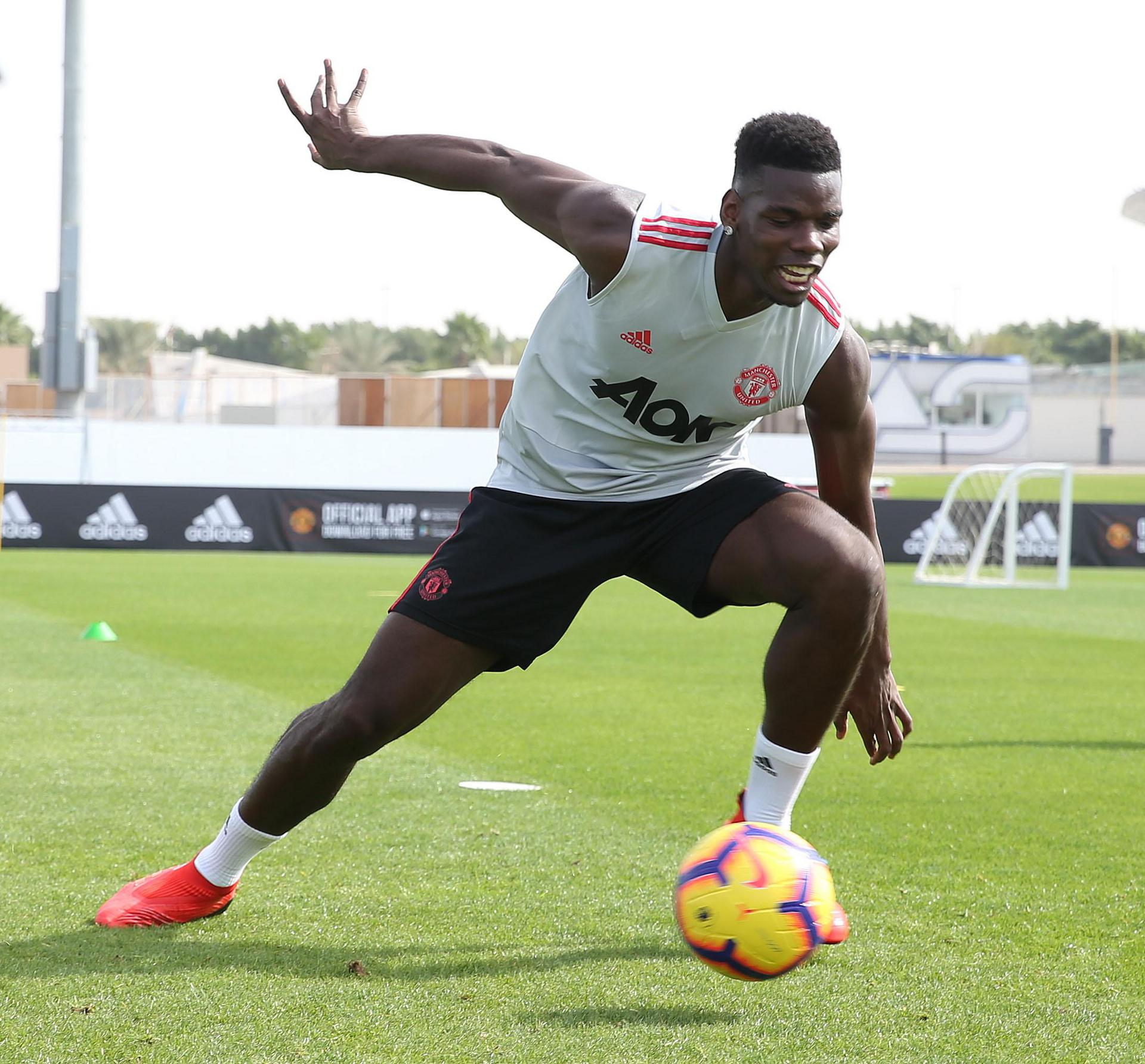 Paul Pogba training in Dubai