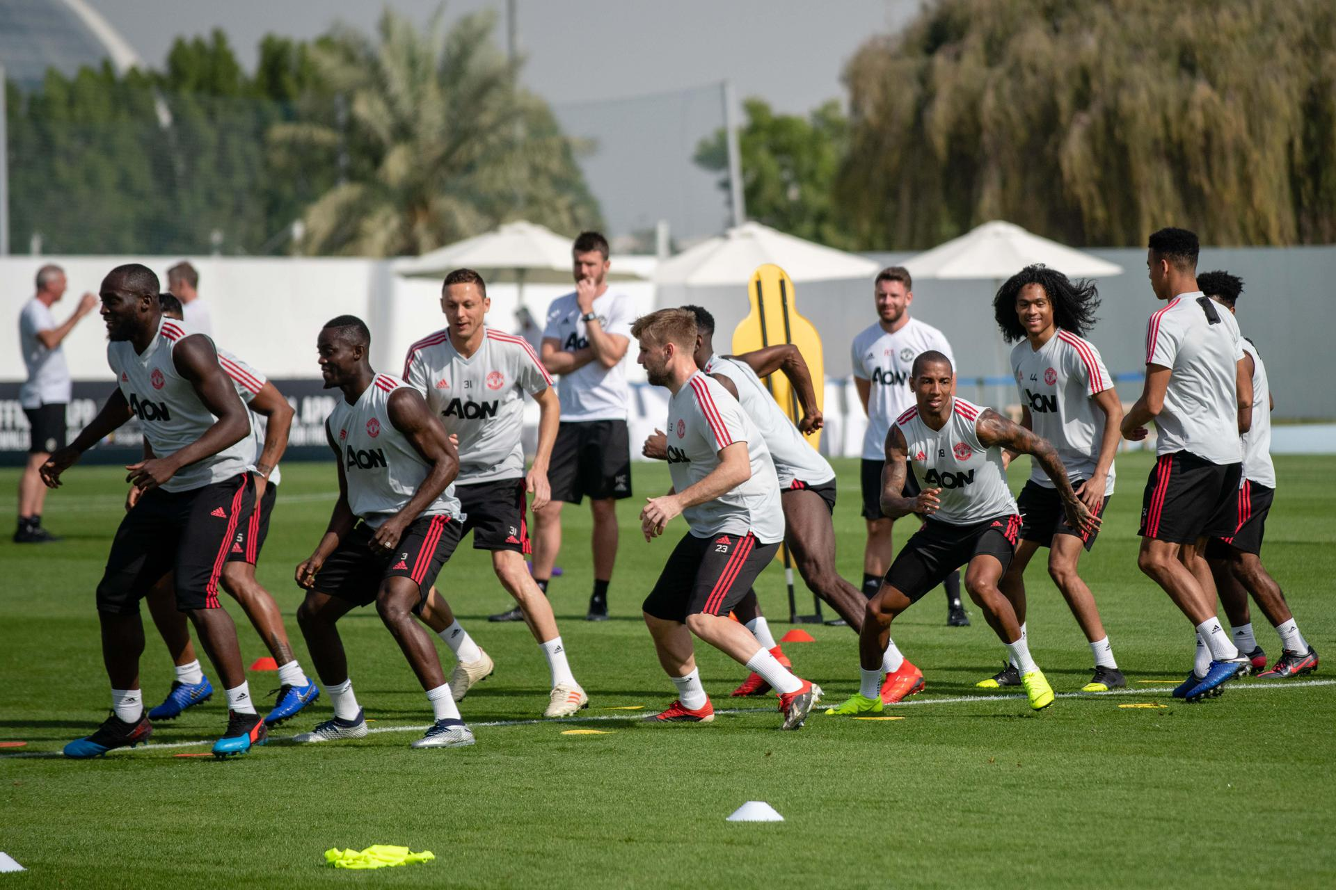 The United players train in Dubai.