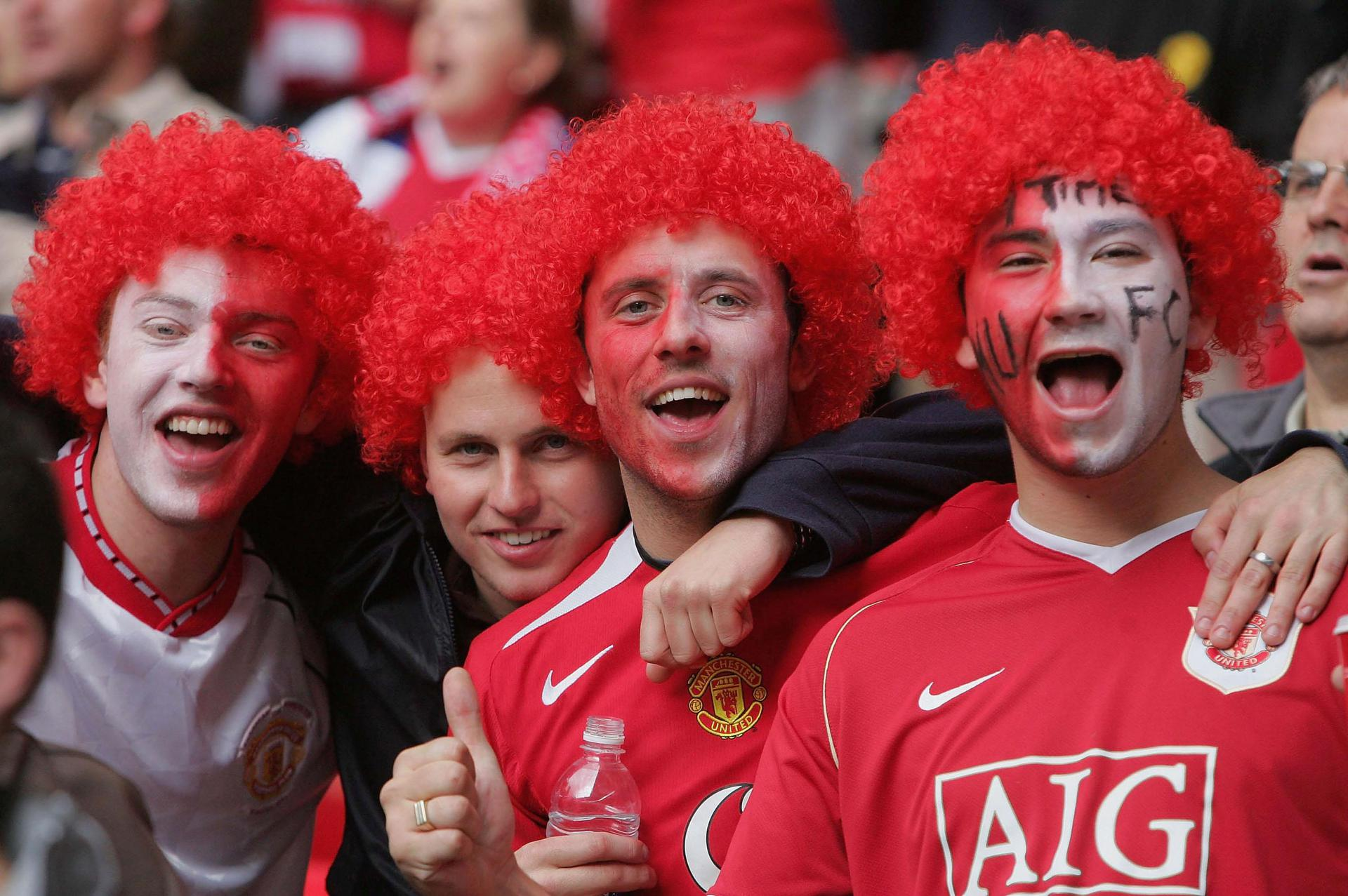 Amazing Images Of Manchester United Fans At Wembley Stadium Manchester United