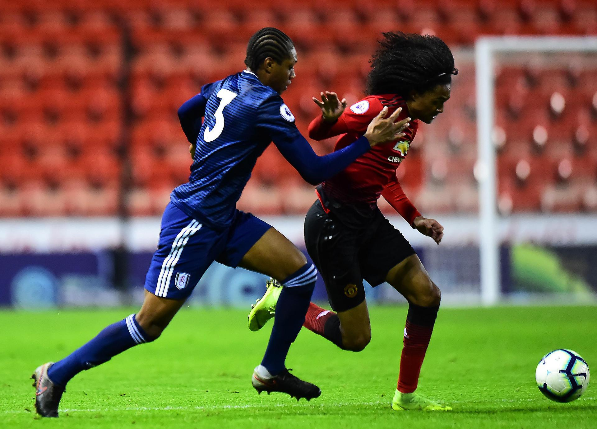 Tahith Chong accelerates past his marker.