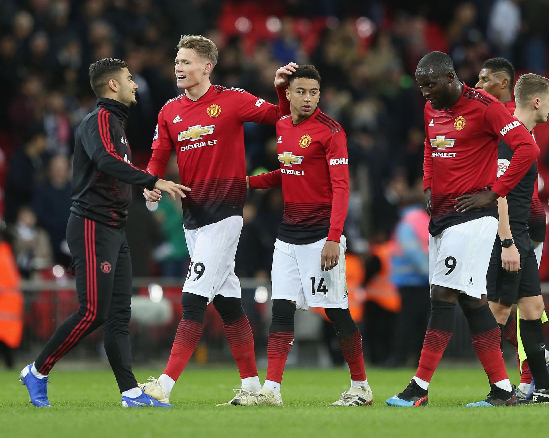 Scott McTominay and Jesse Lingard at the final whistle.