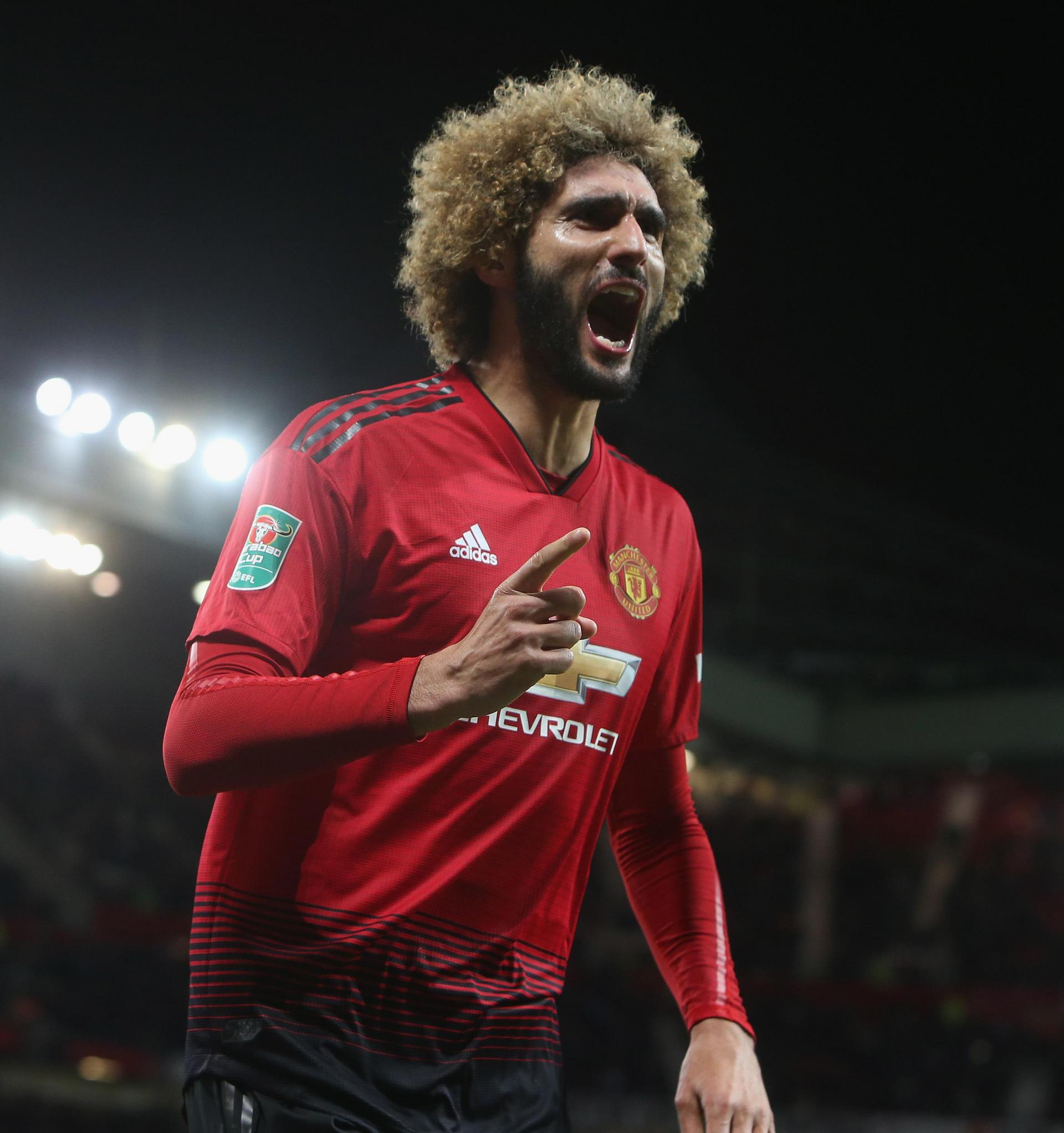 Marouane Fellaini hails his equaliser against Derby.