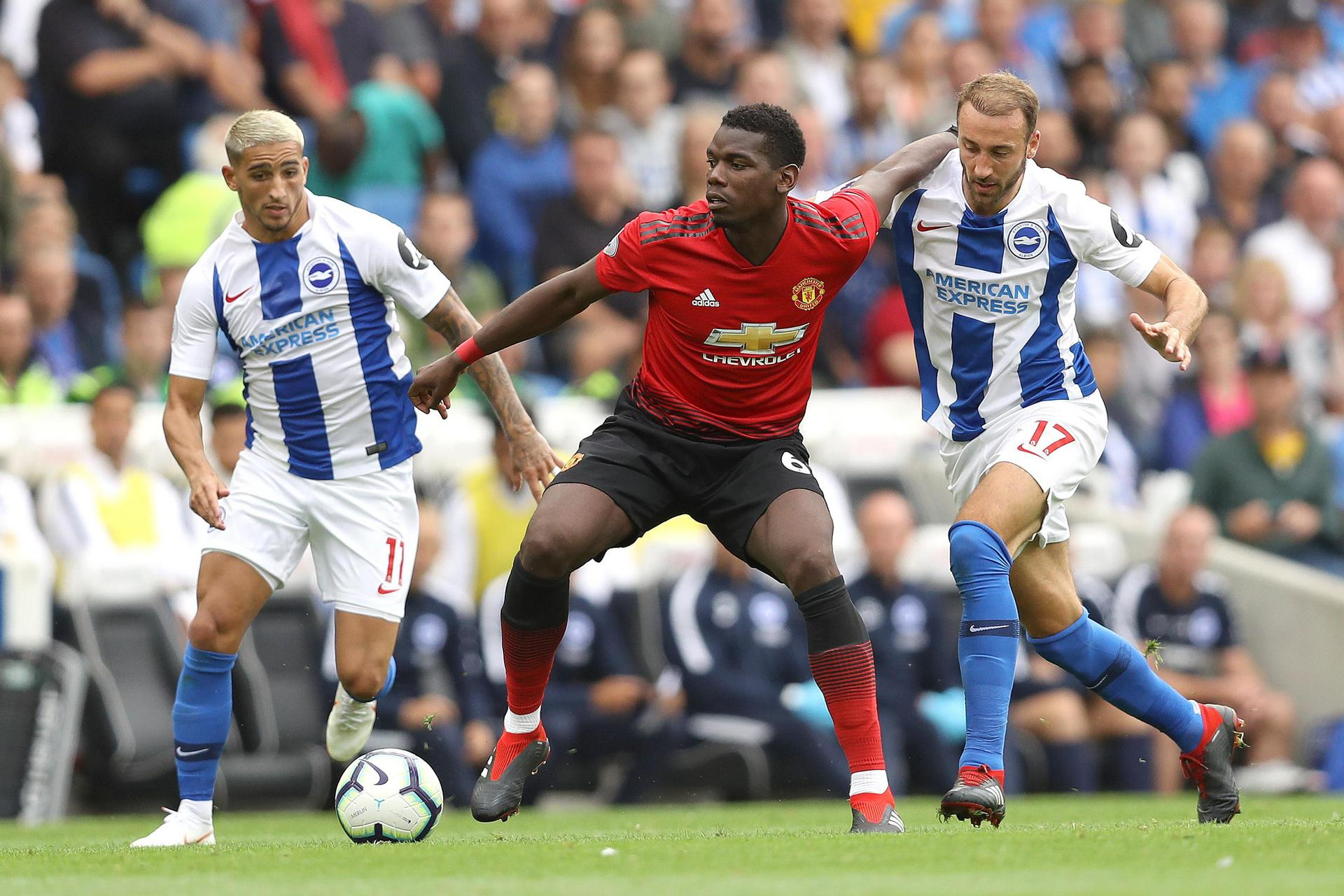 Paul Pogba in action against Brighton in August 2018.
