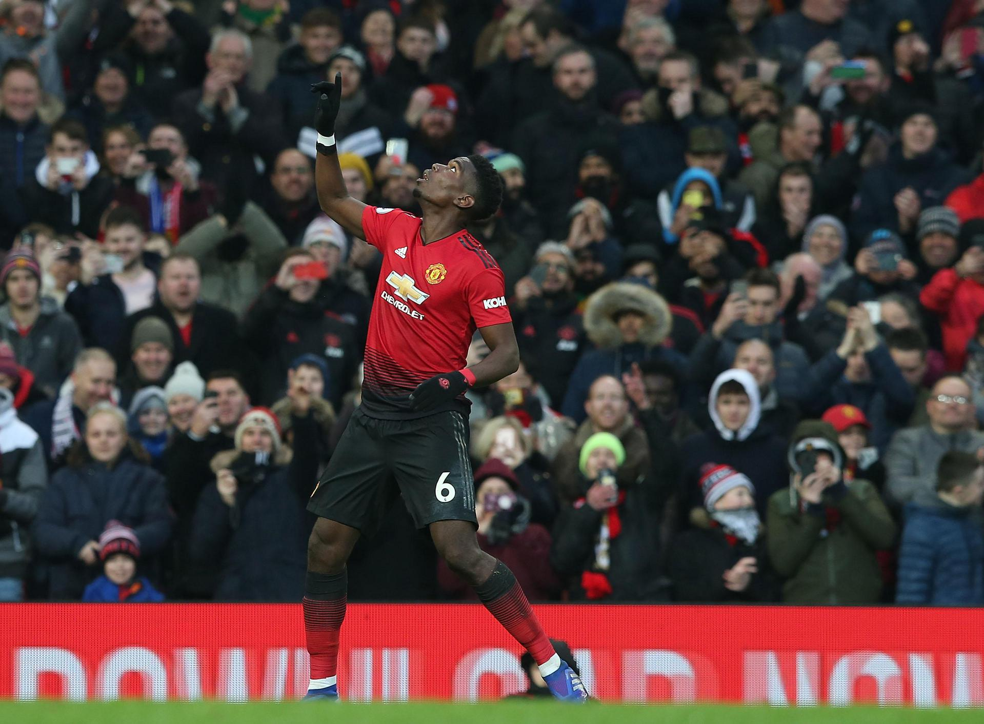 Paul Pogba salutes his penalty.
