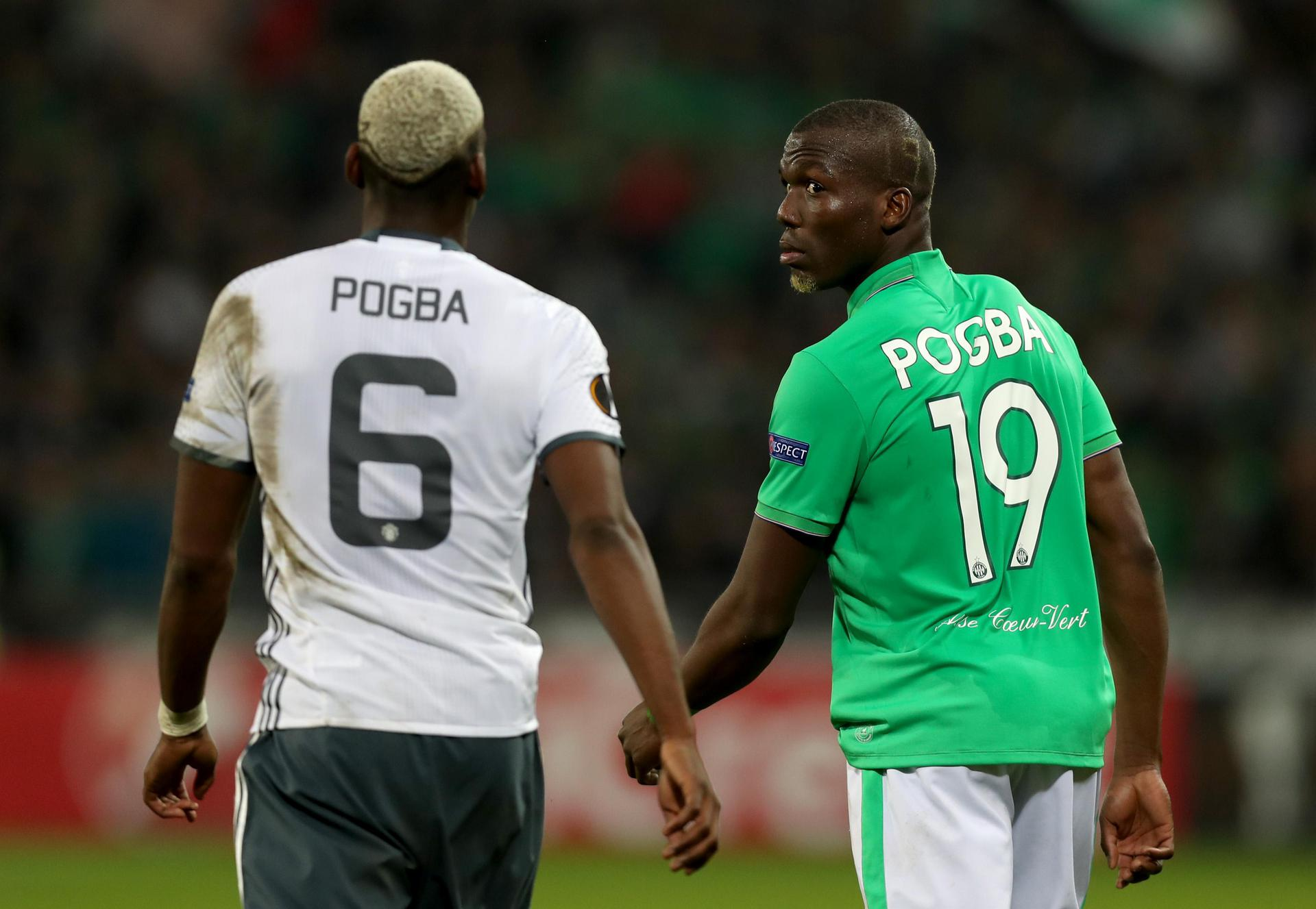 Paul Pogba and Florentin Pogba in opposition in the Europa League.