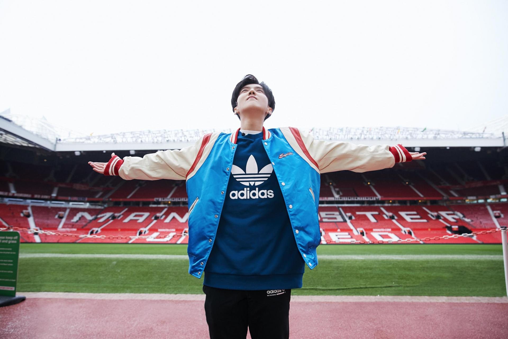 Lu Han at Old Trafford.