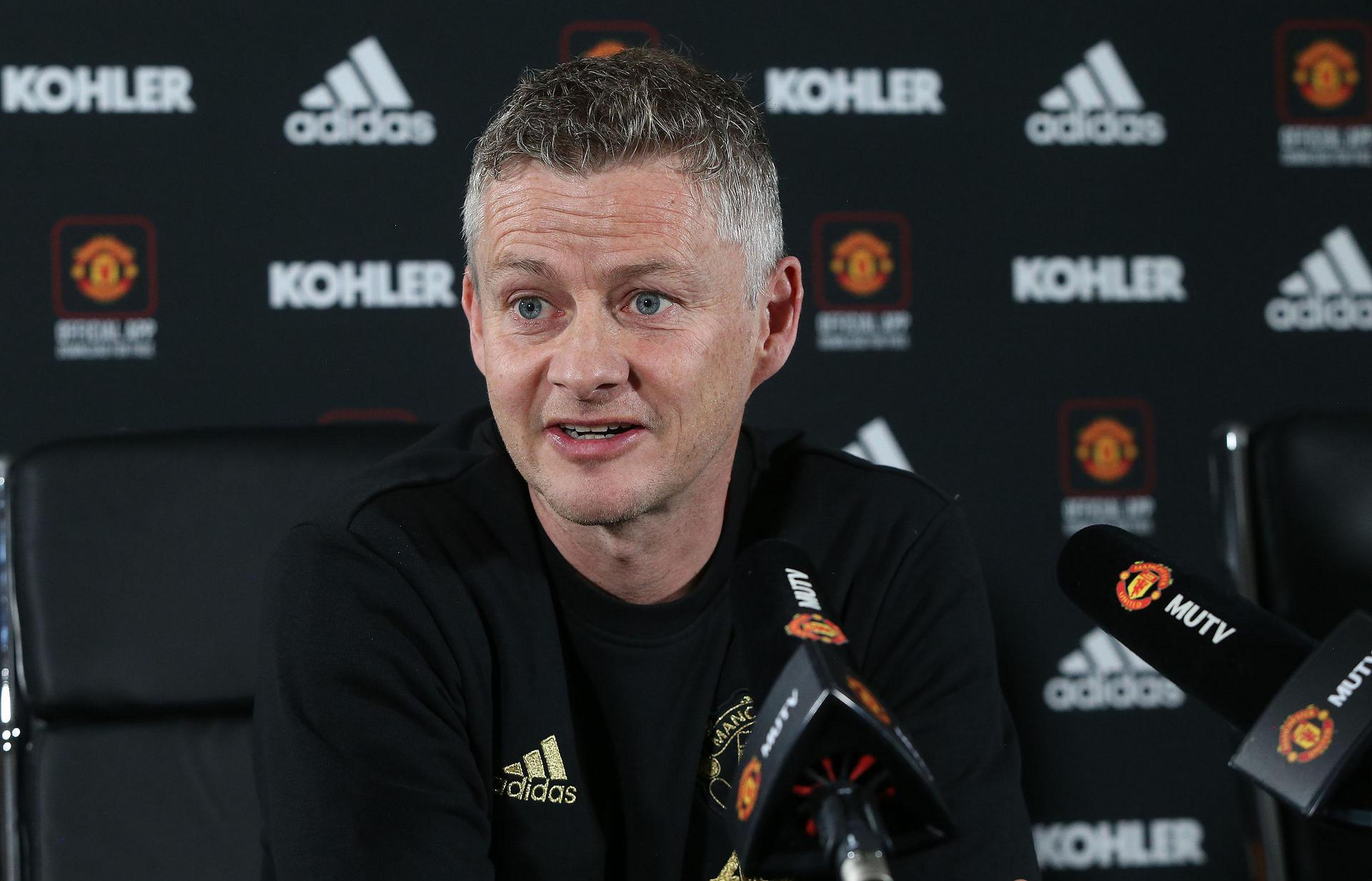 Ole Gunnar Solskjaer in his press conference.
