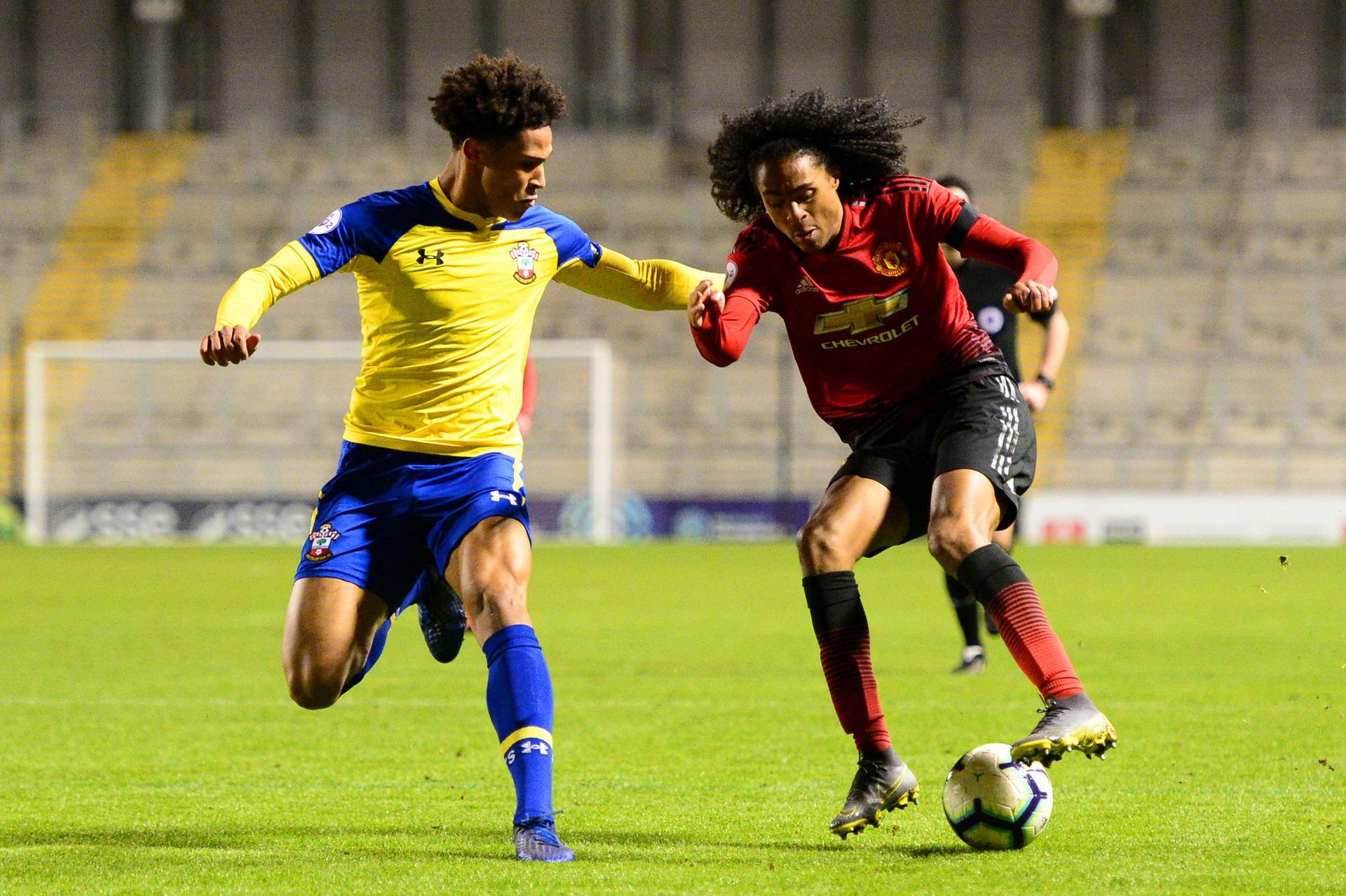 Tahith Chong holds the ball up well.