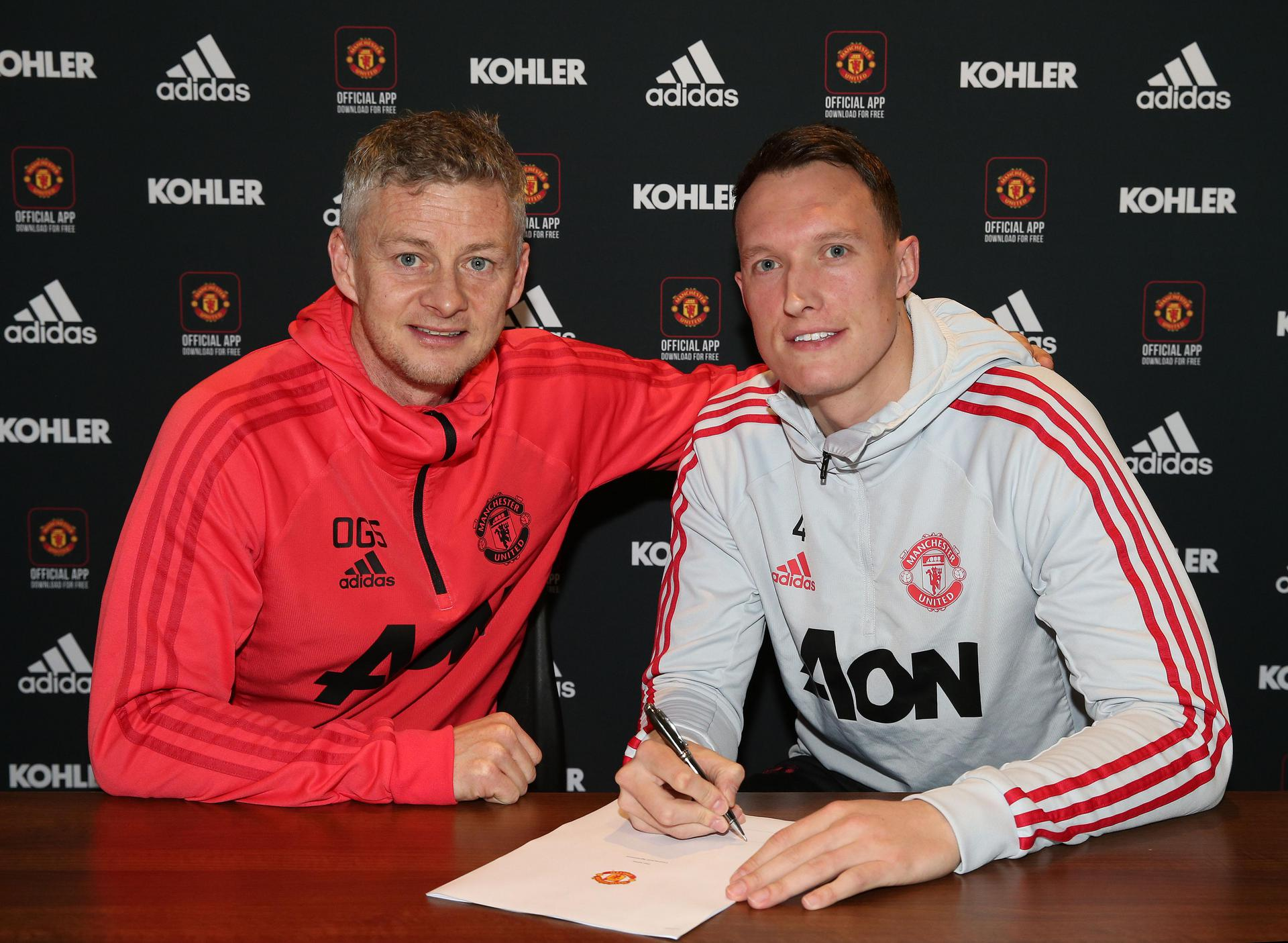 Ole Gunnar Solskjaer y Phil Jones