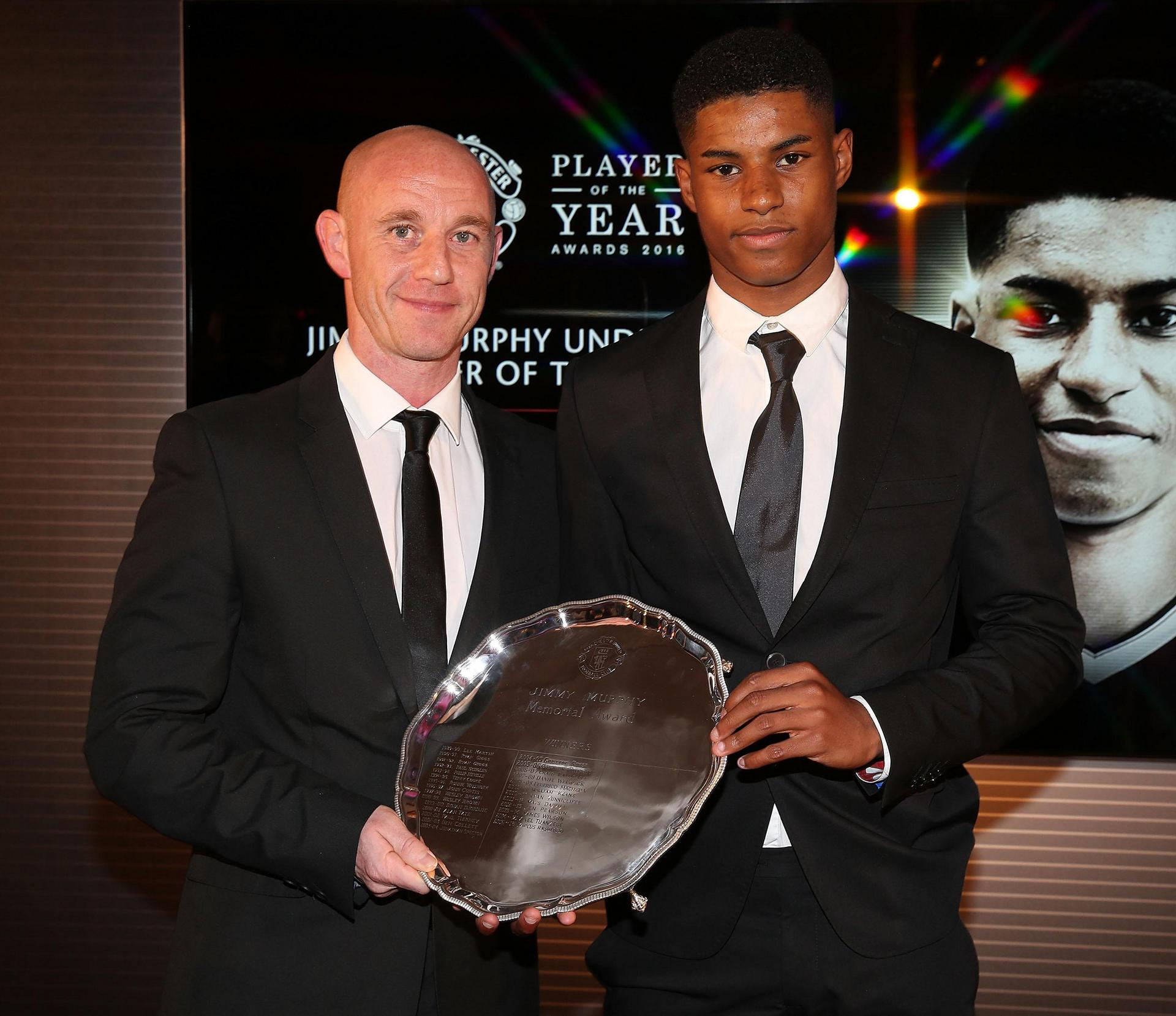 Nicky Butt y Marcus Rashford