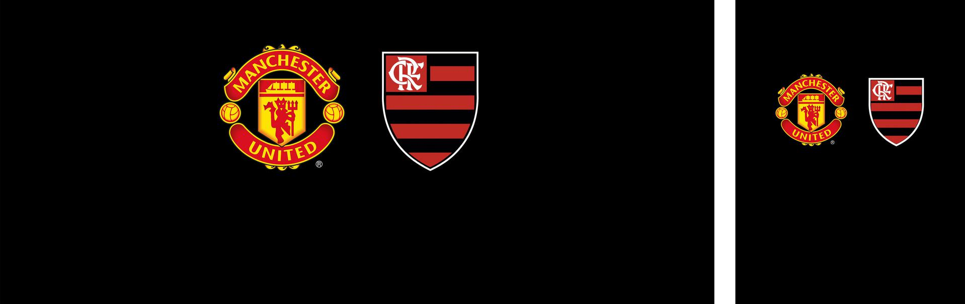 Flamengo FC and Manchester United crests.