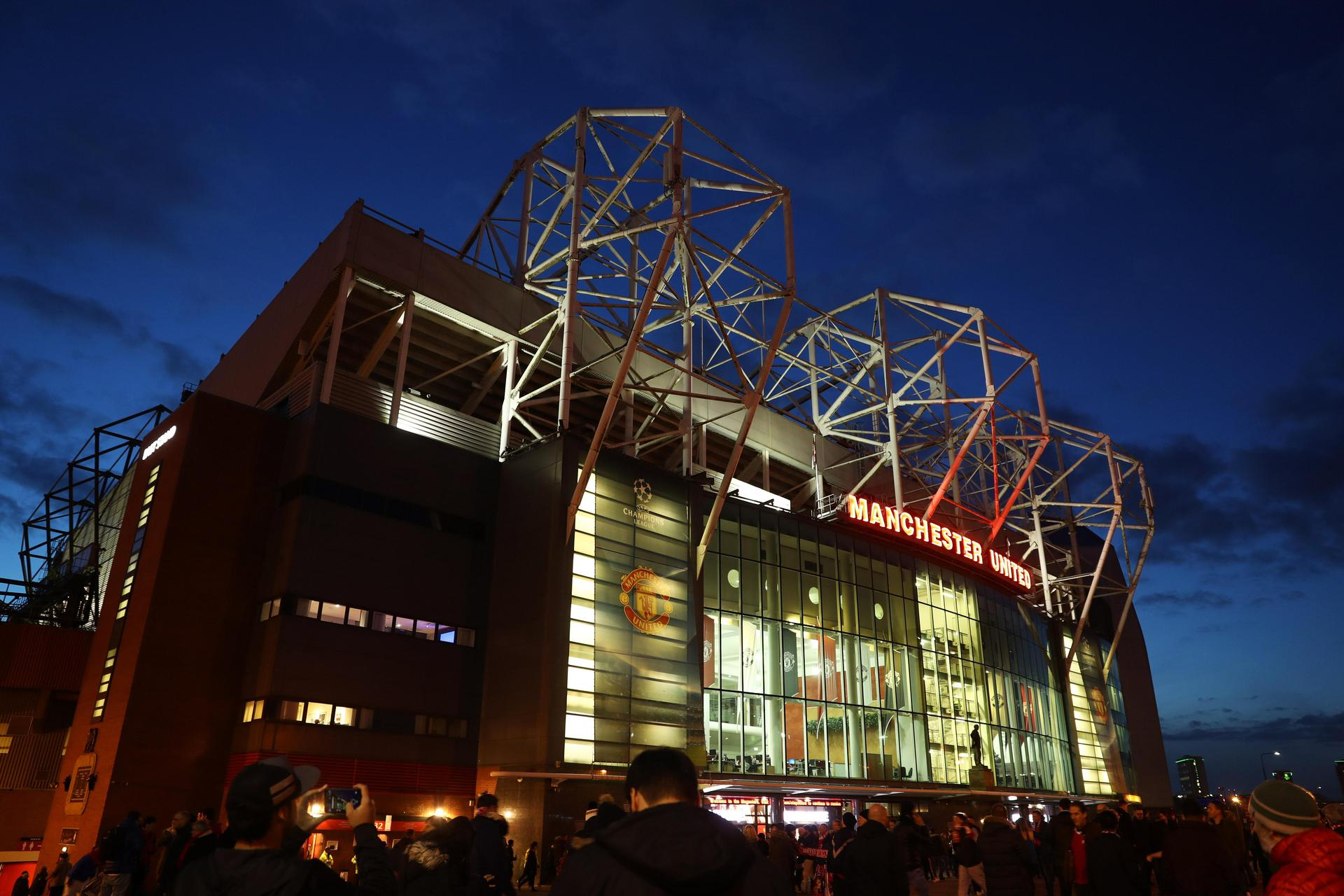 Old Trafford on a Champions League night.