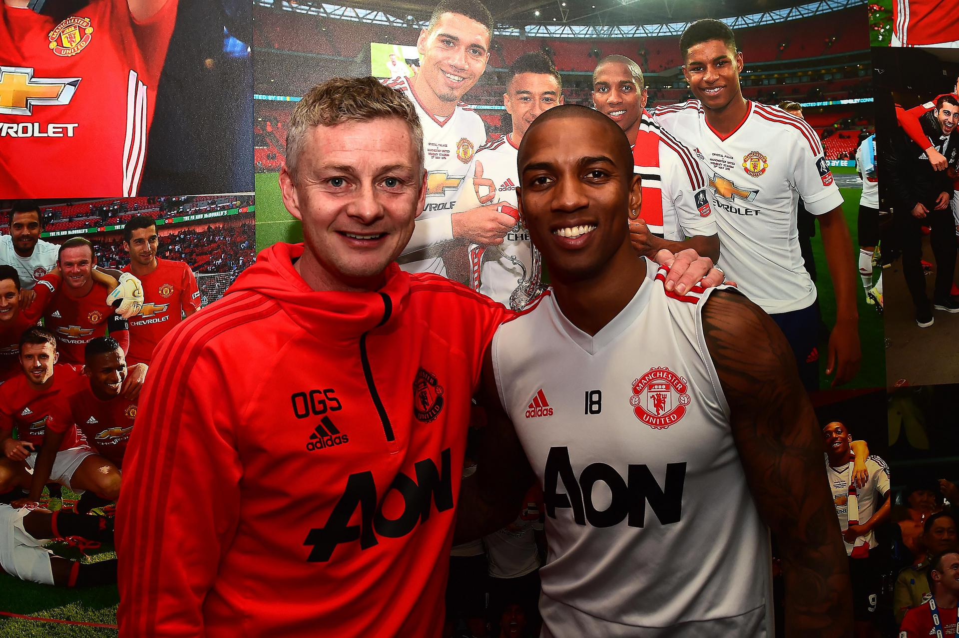 Ole Gunnar Solskjaer and Ashley Young.