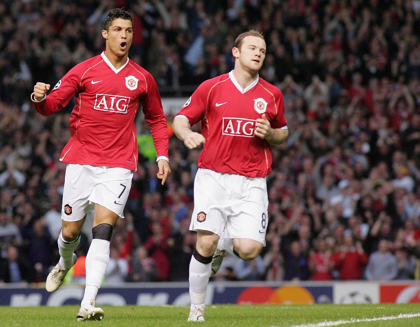 Cristiano Ronaldo and Wayne Rooney.