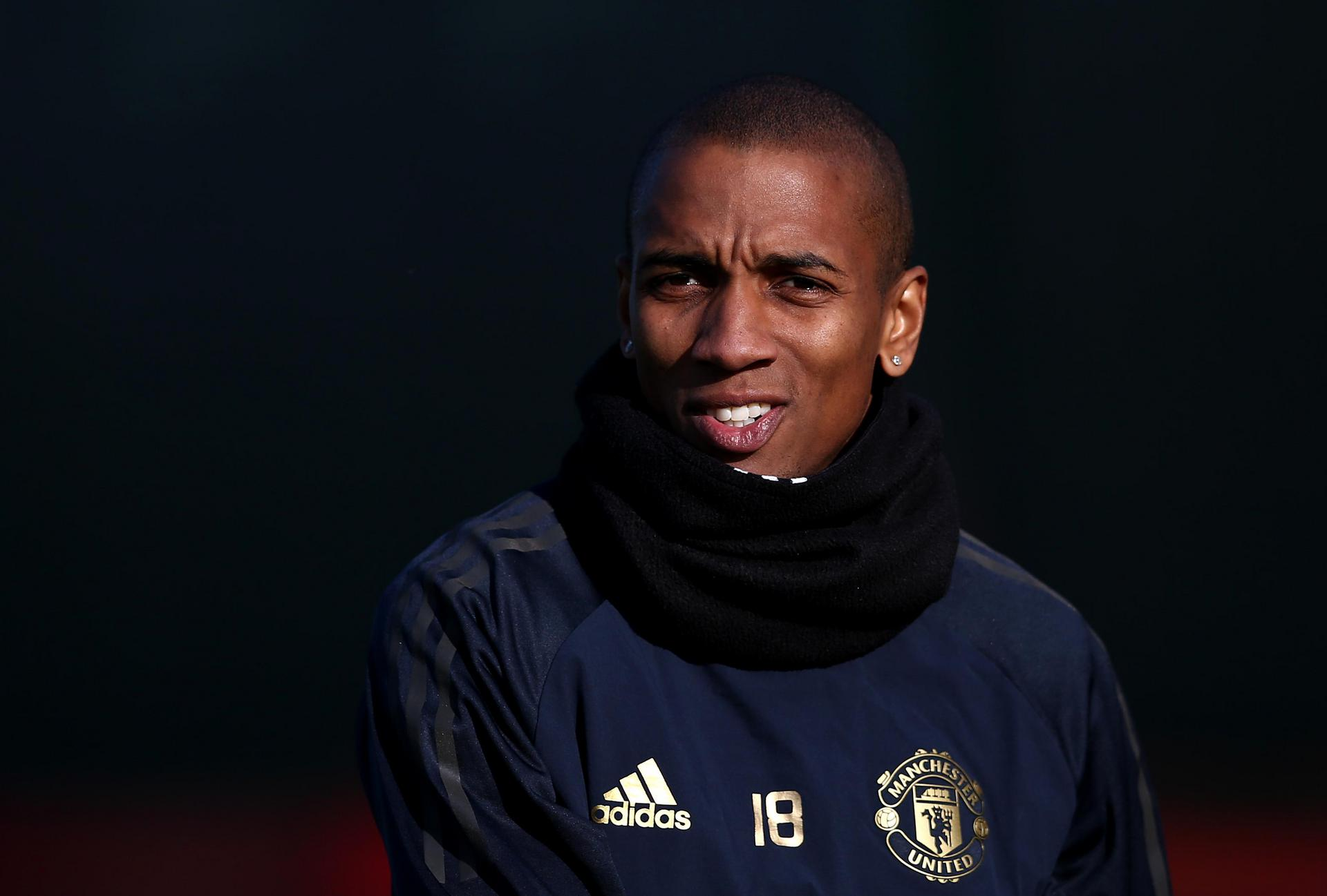 Ashley Young at training.