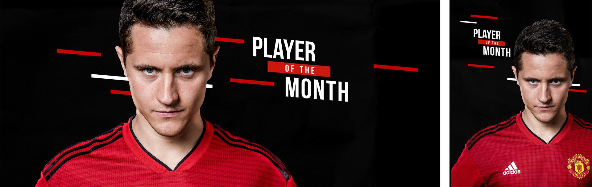 Ander Herrera Player of the Month graphic