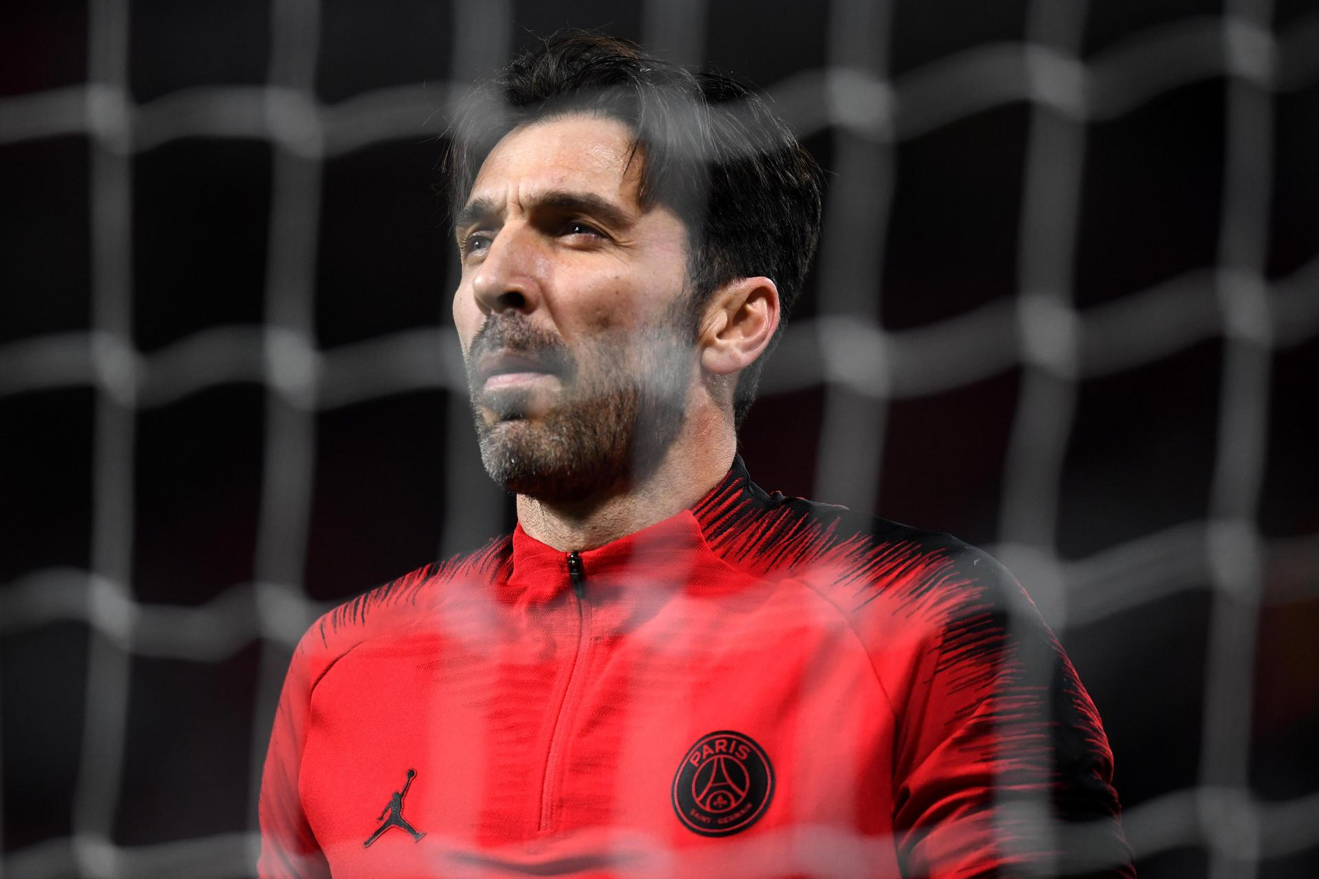 Gigi Buffon at Old Trafford.