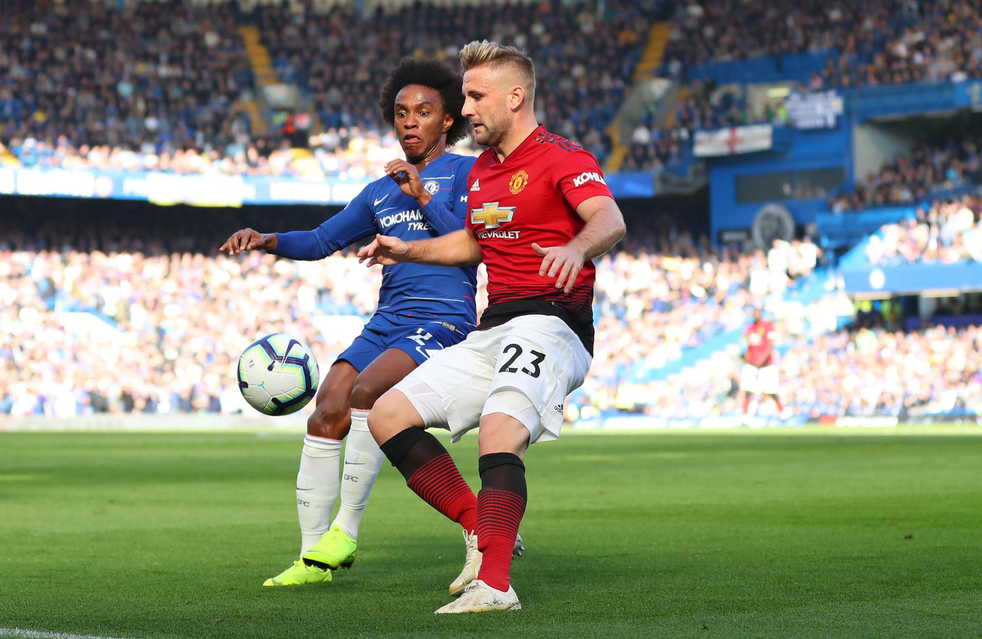 Willian et Luke Shaw