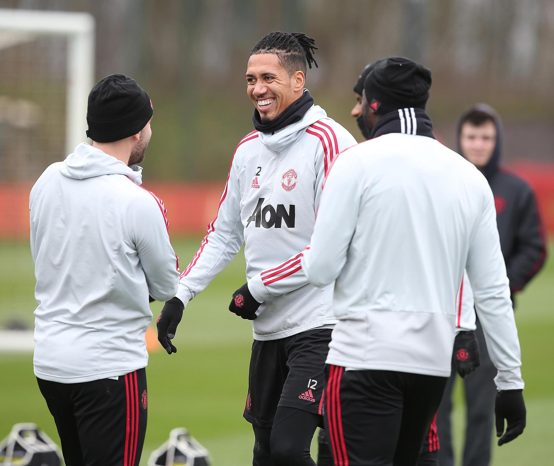 Chris Smalling in training.