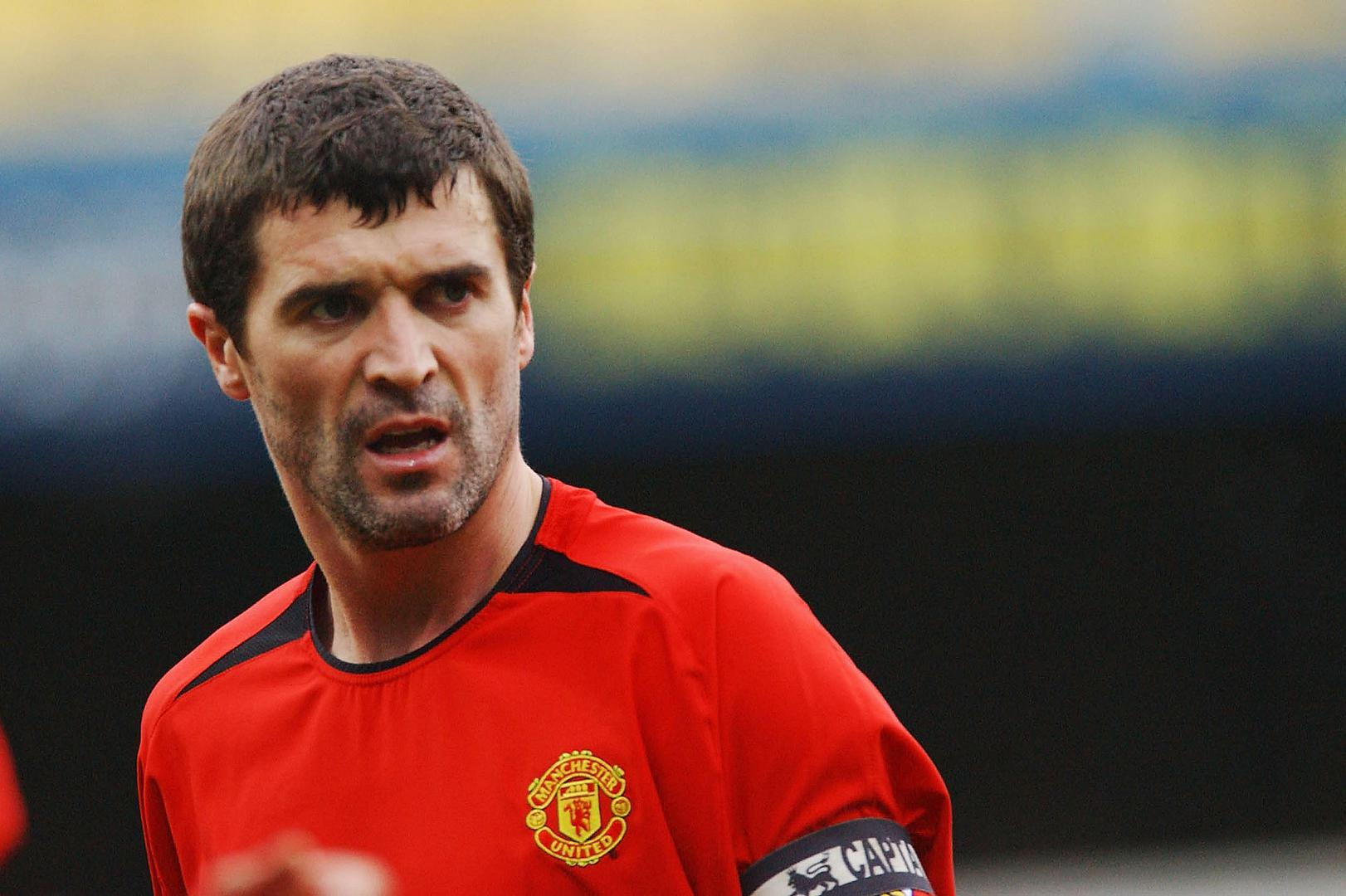 Roy Keane playing for Manchester United.