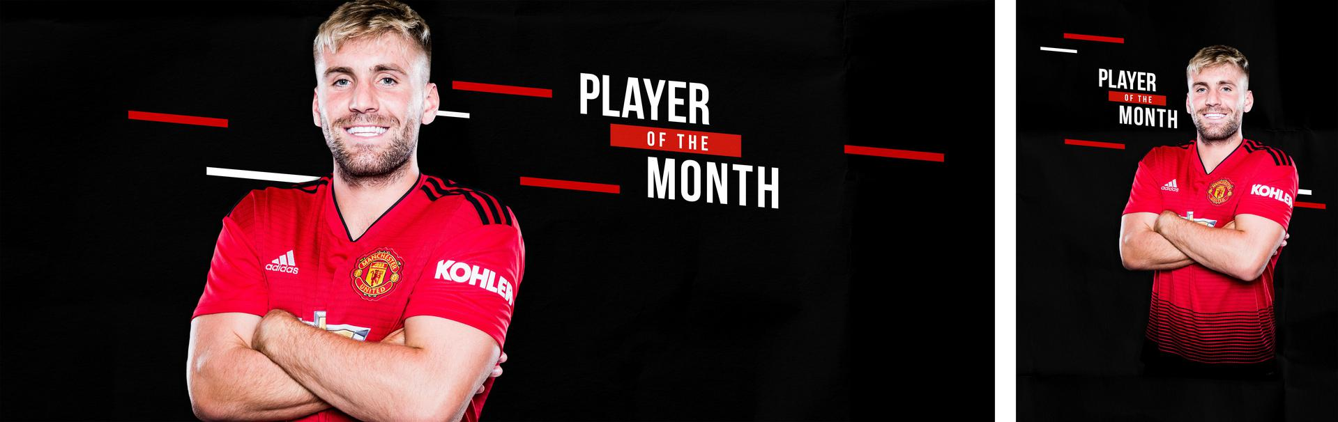 Luke Shaw voted Player of the Month for March.。