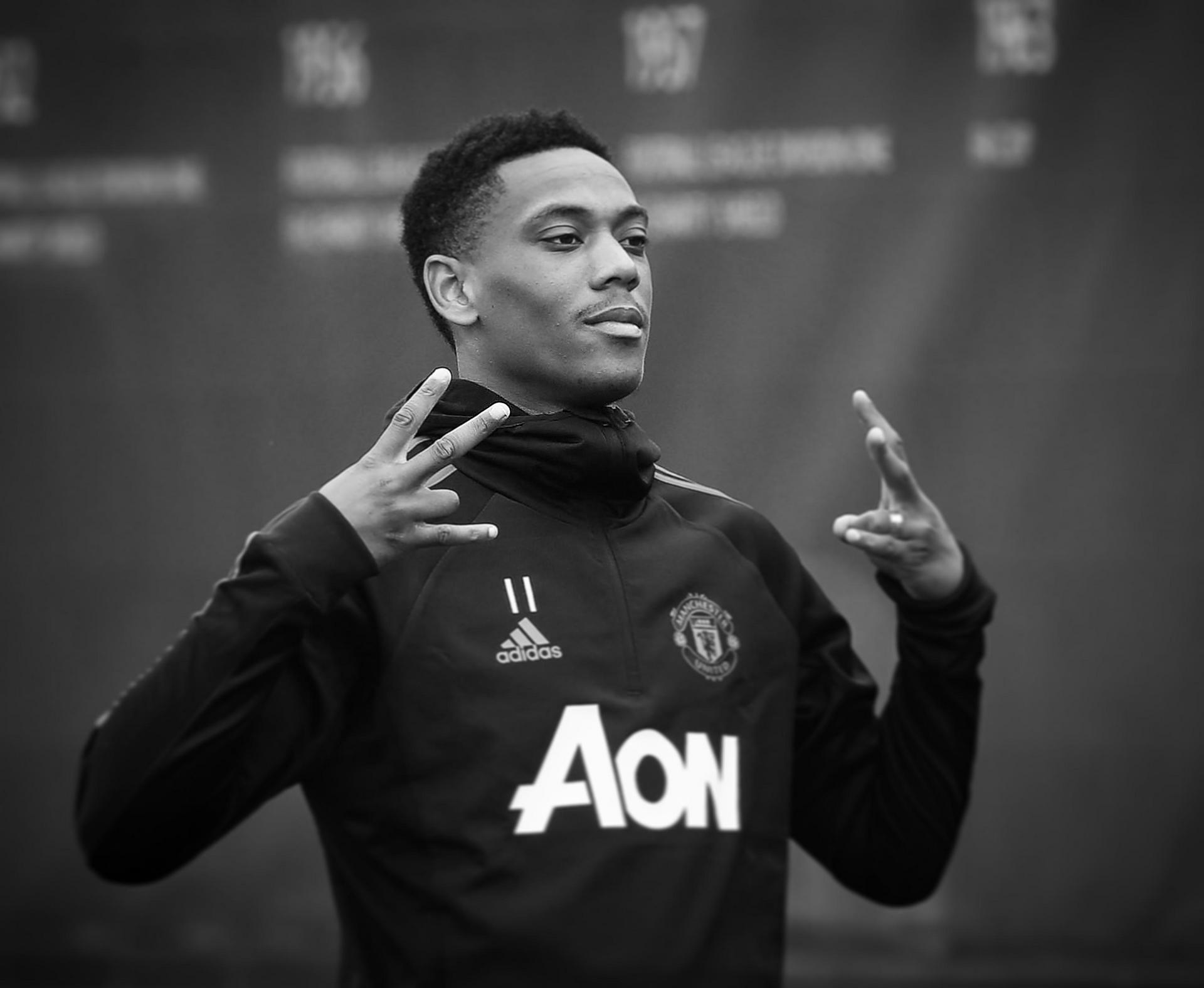 Anthony Martial at a training session