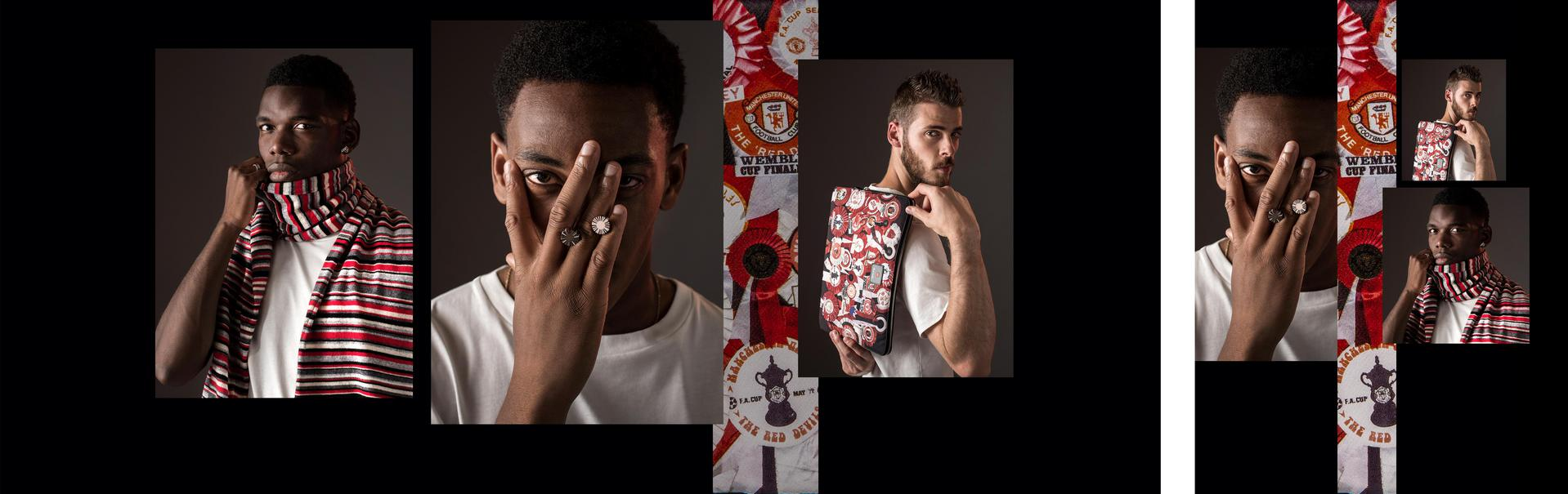 Manchester United players model Paul Smith accessories