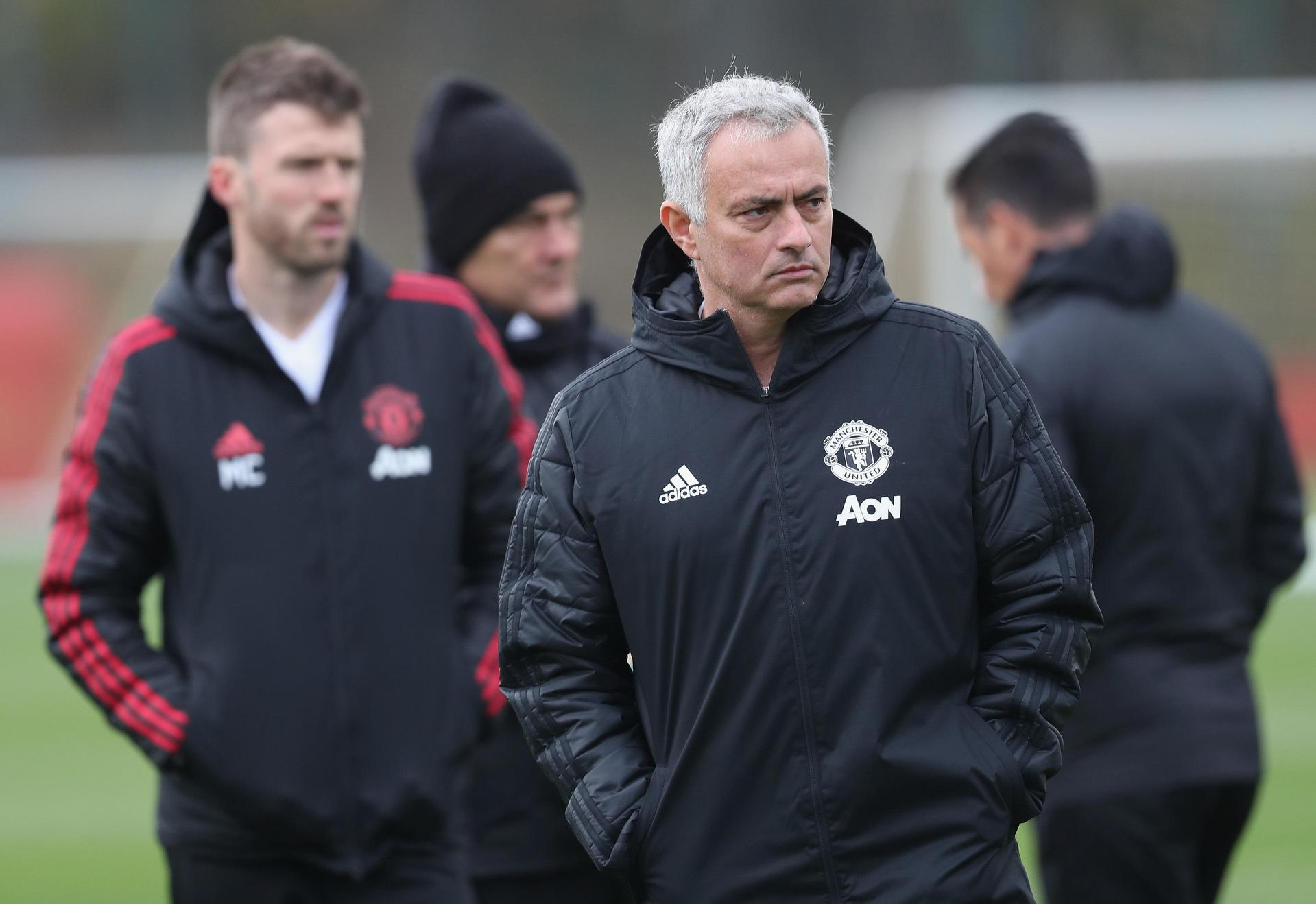 Jose Mourinho at the Aon Training Complex.