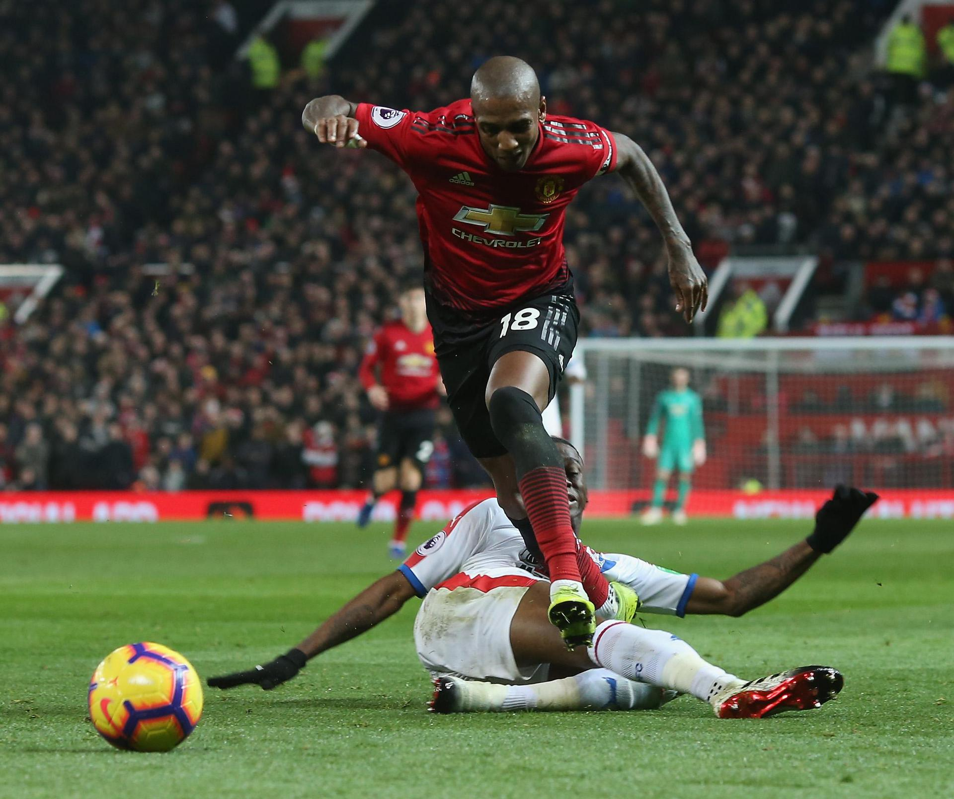 Ashley Young is tripped