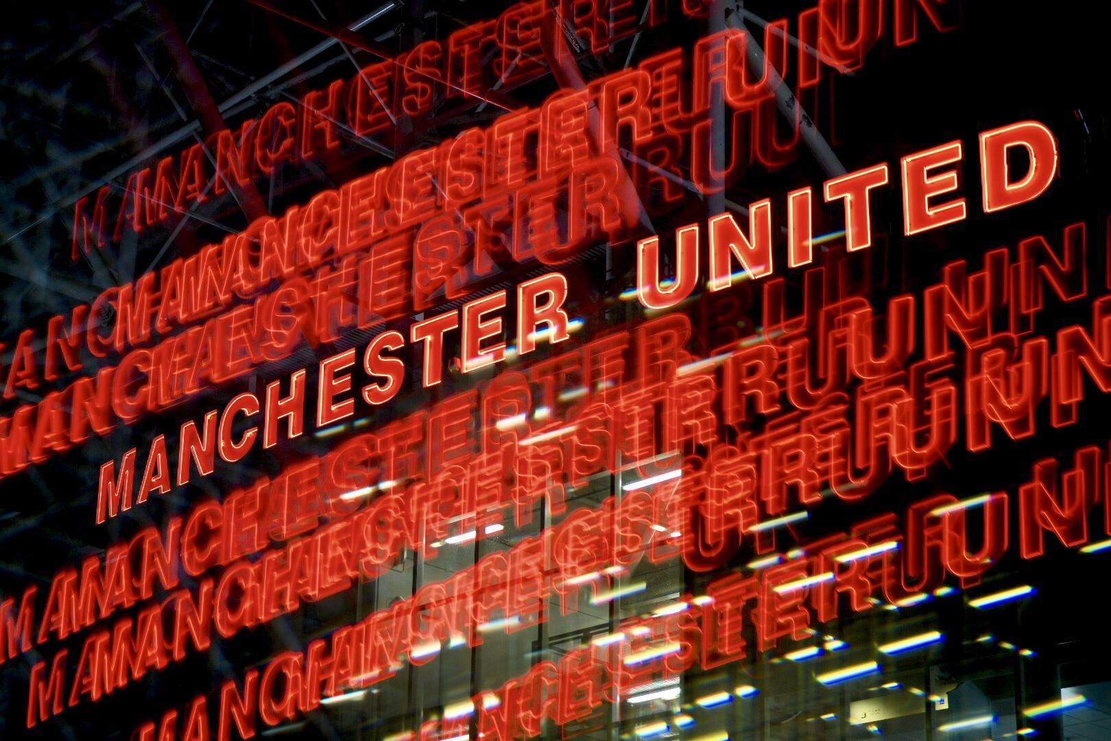 Old Trafford sign.