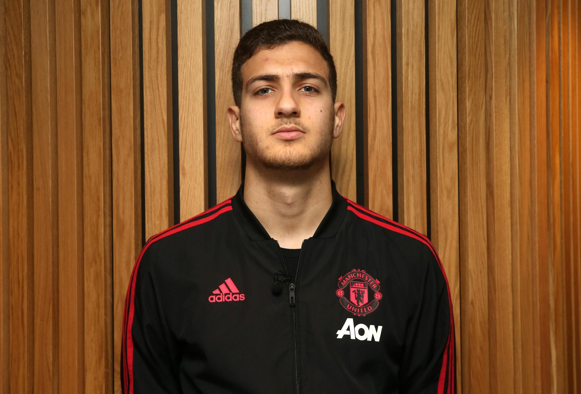 Diogo Dalot on a tour of Old Trafford.