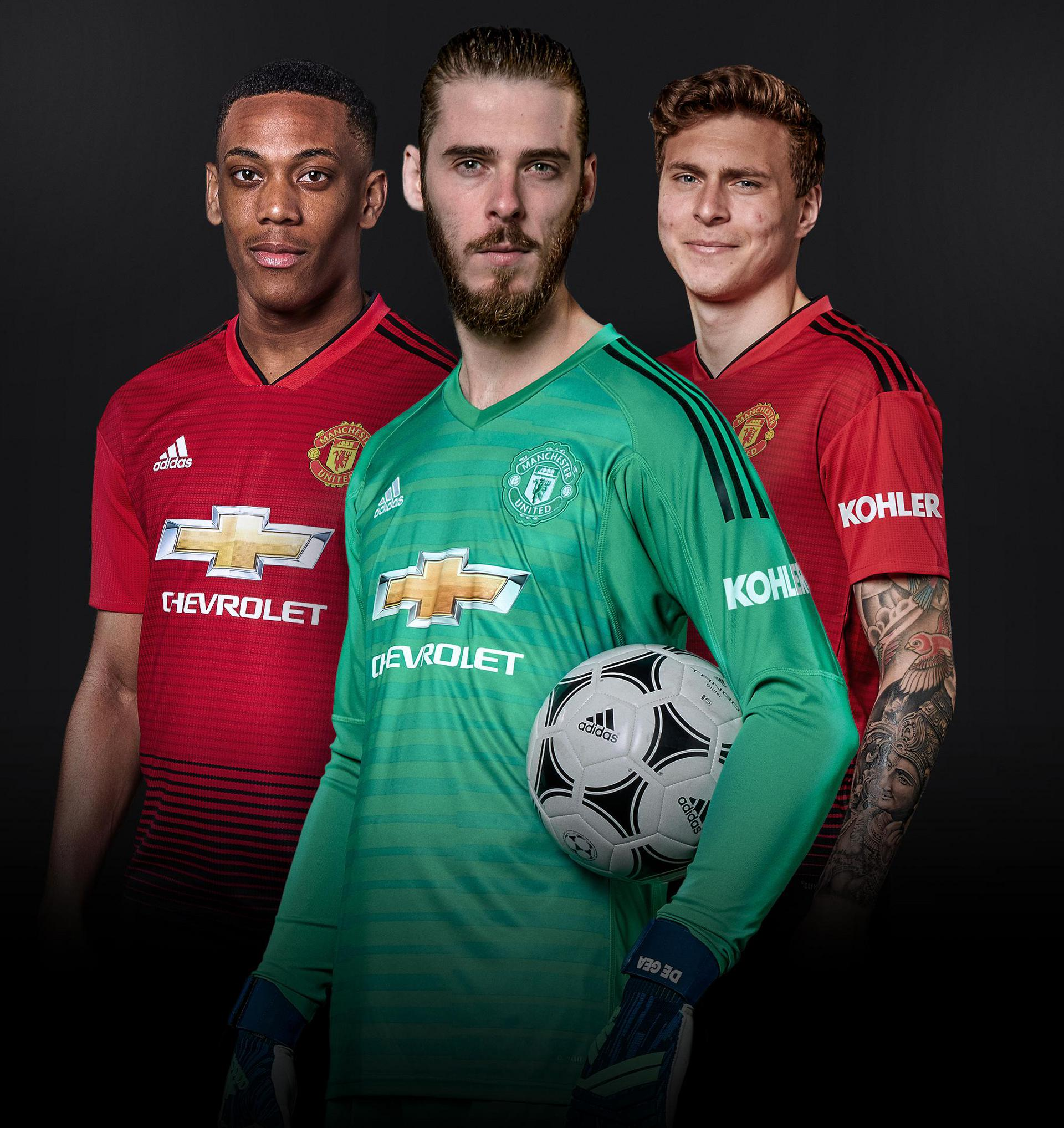 Anthony Martial, David De Gea and Victor Lindelof