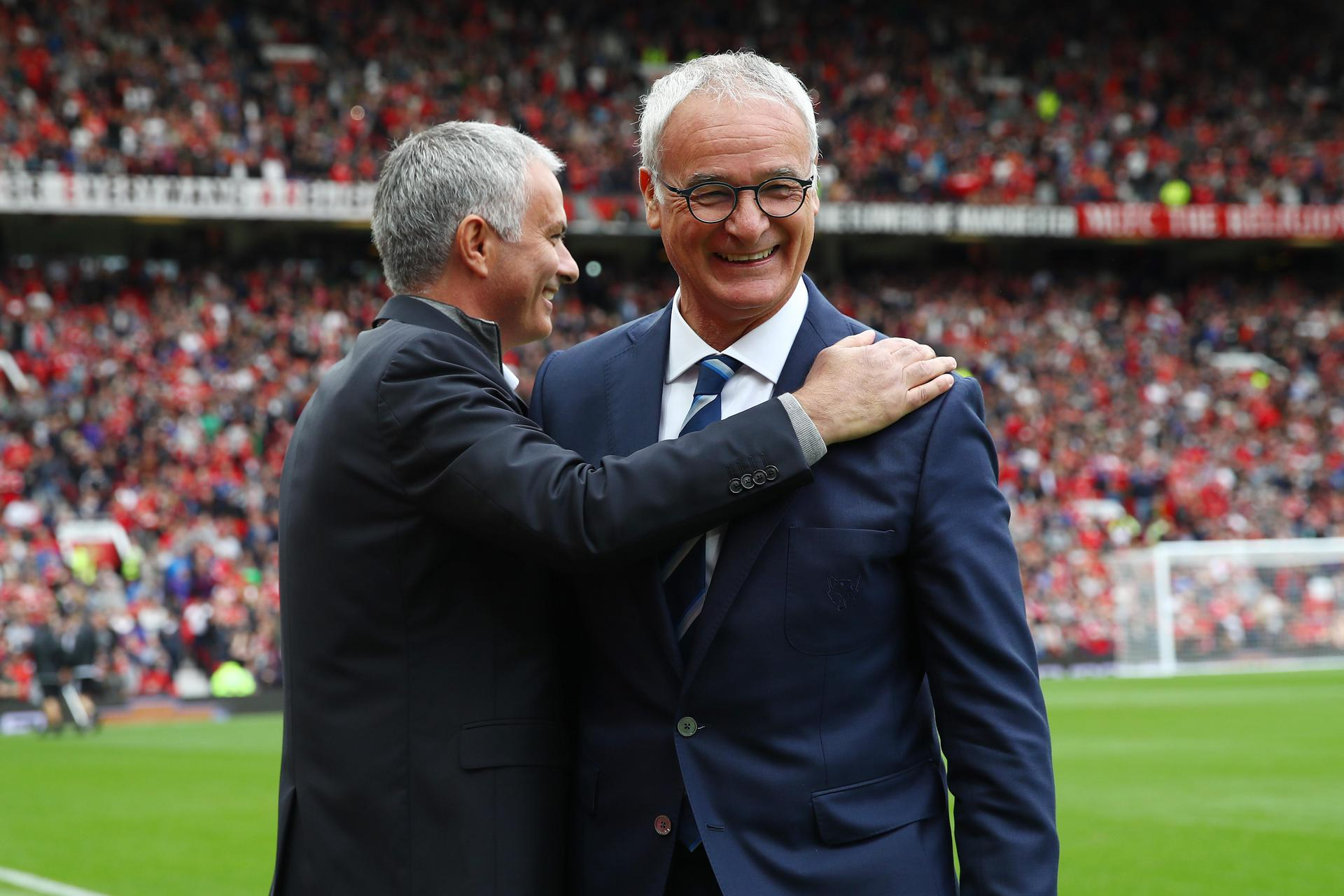 Jose Mourinho and Claudio Ranieri