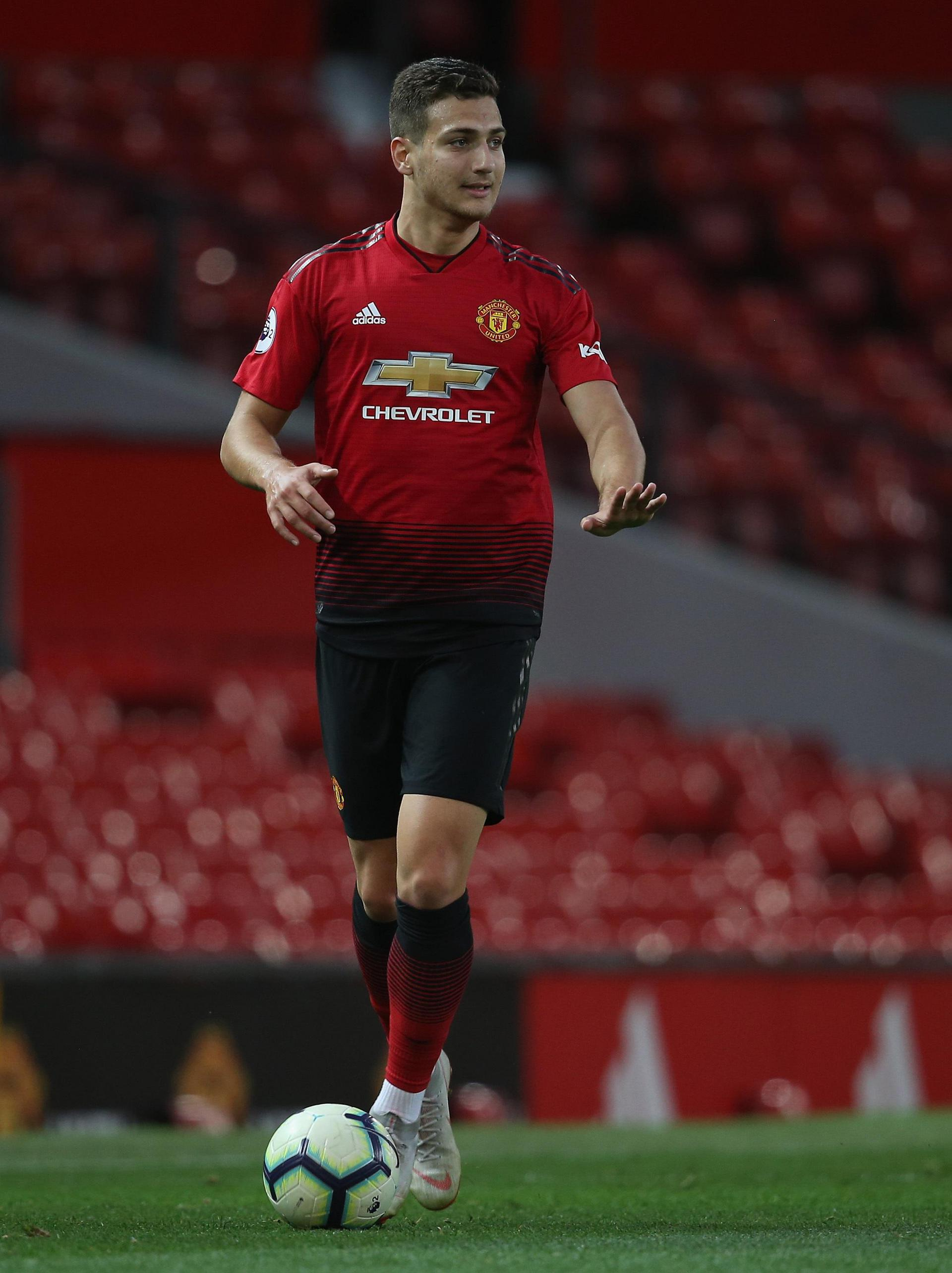 Diogo Dalot in action for the Under-23s.
