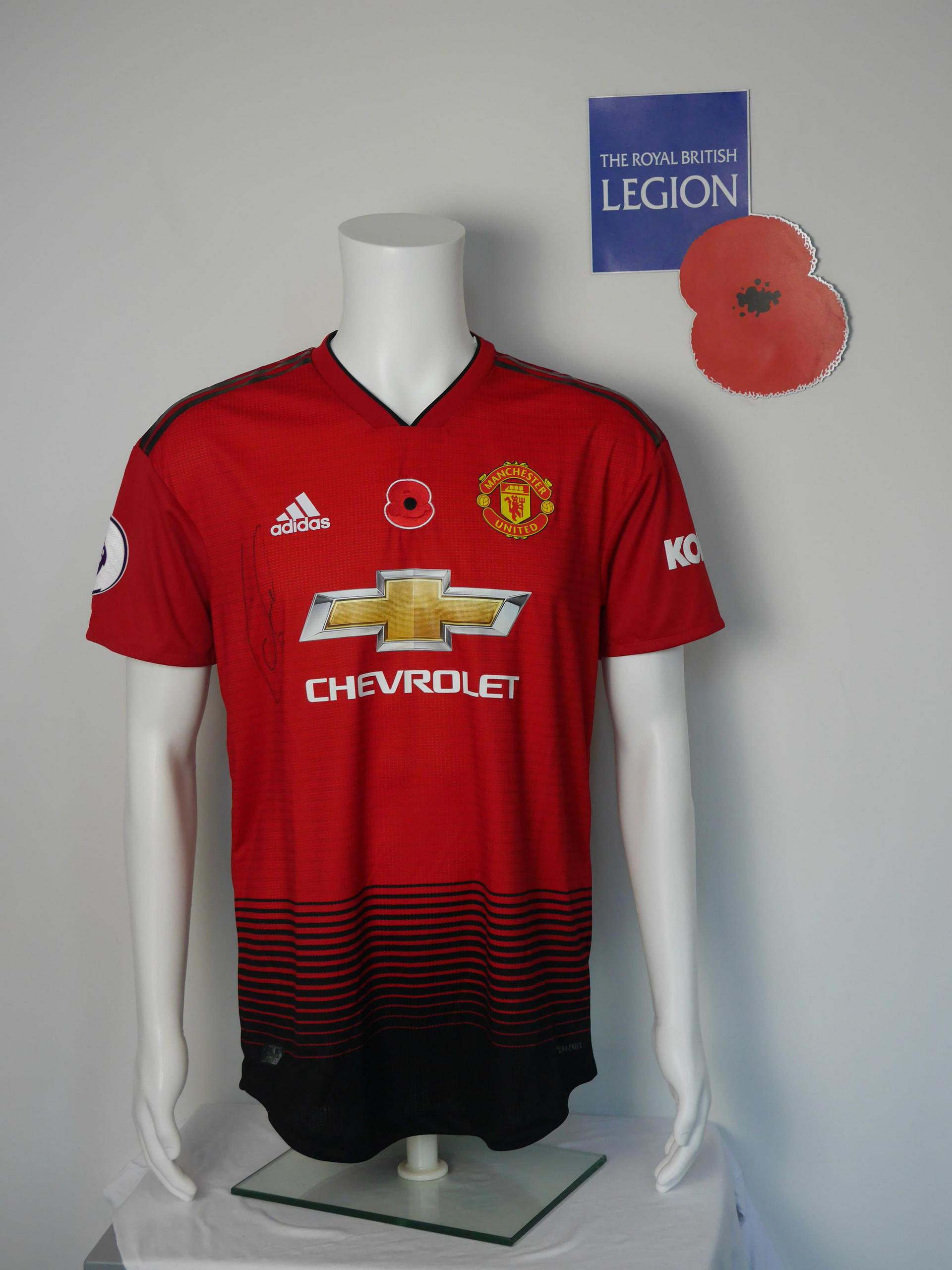 United shirts with poppies.