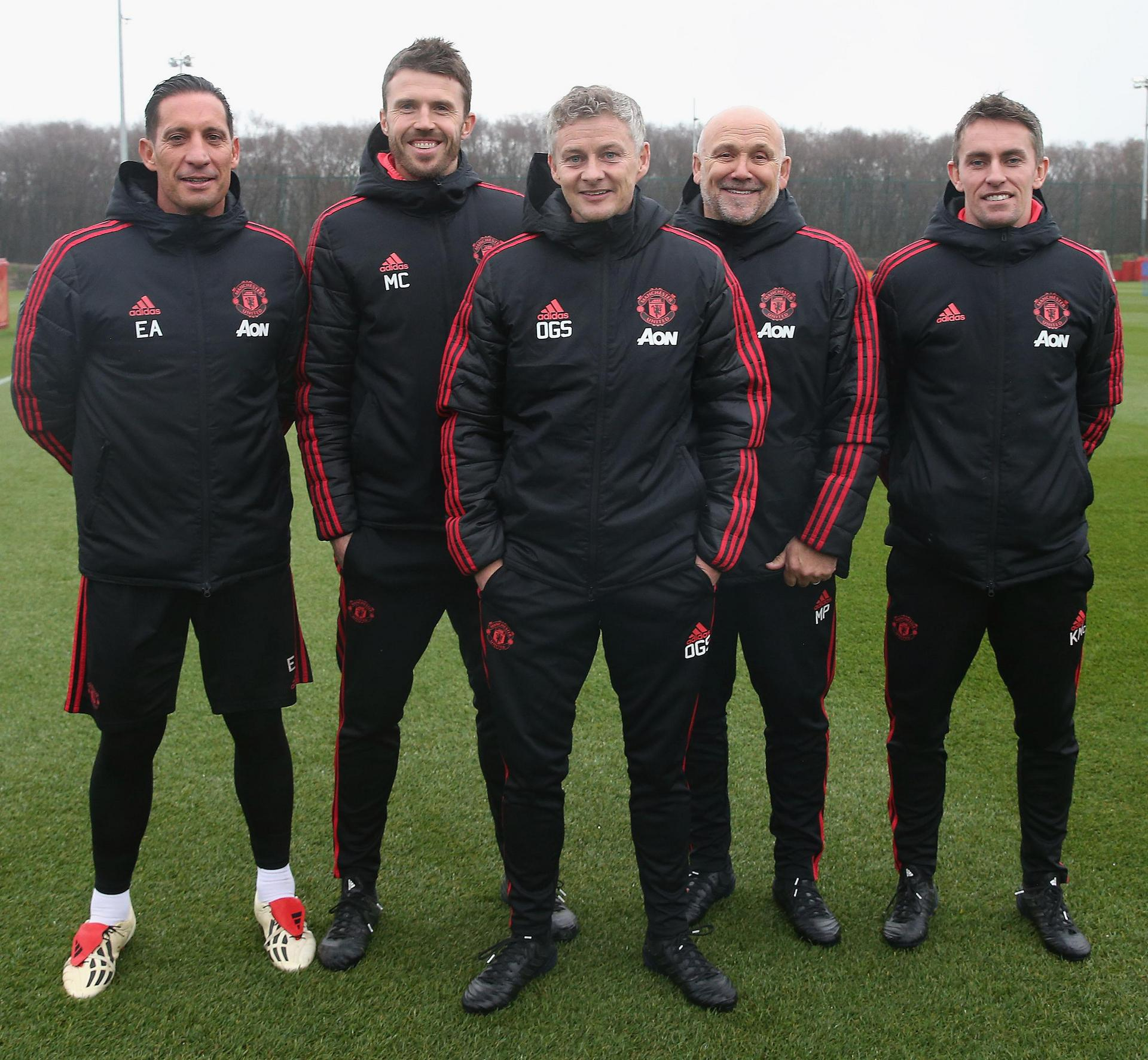 Gallery Ole Gunnar Solskjaer And His United Coaches Manchester United